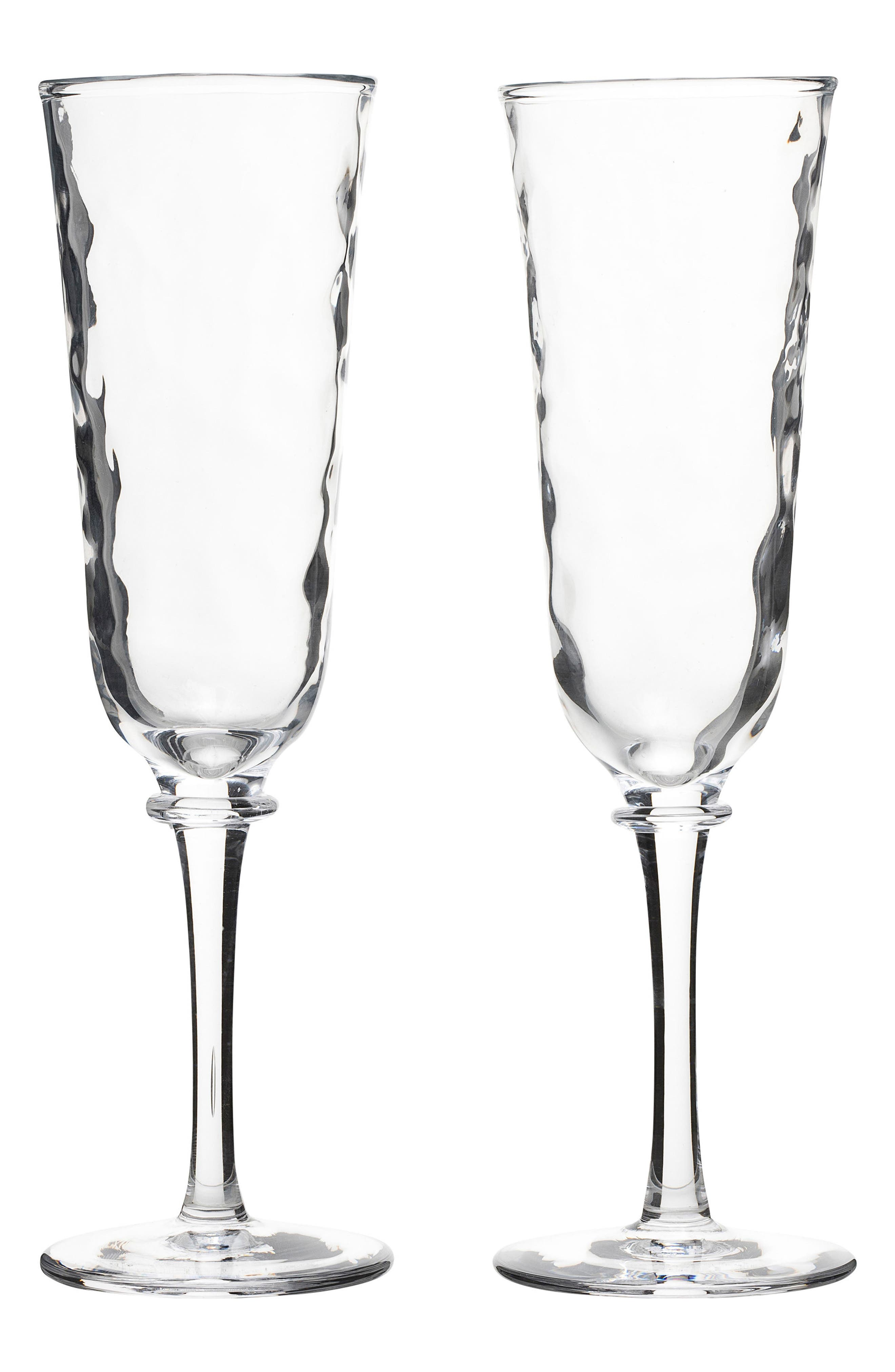 Carine Set of 2 Champagne Flutes,                             Main thumbnail 1, color,                             CLEAR