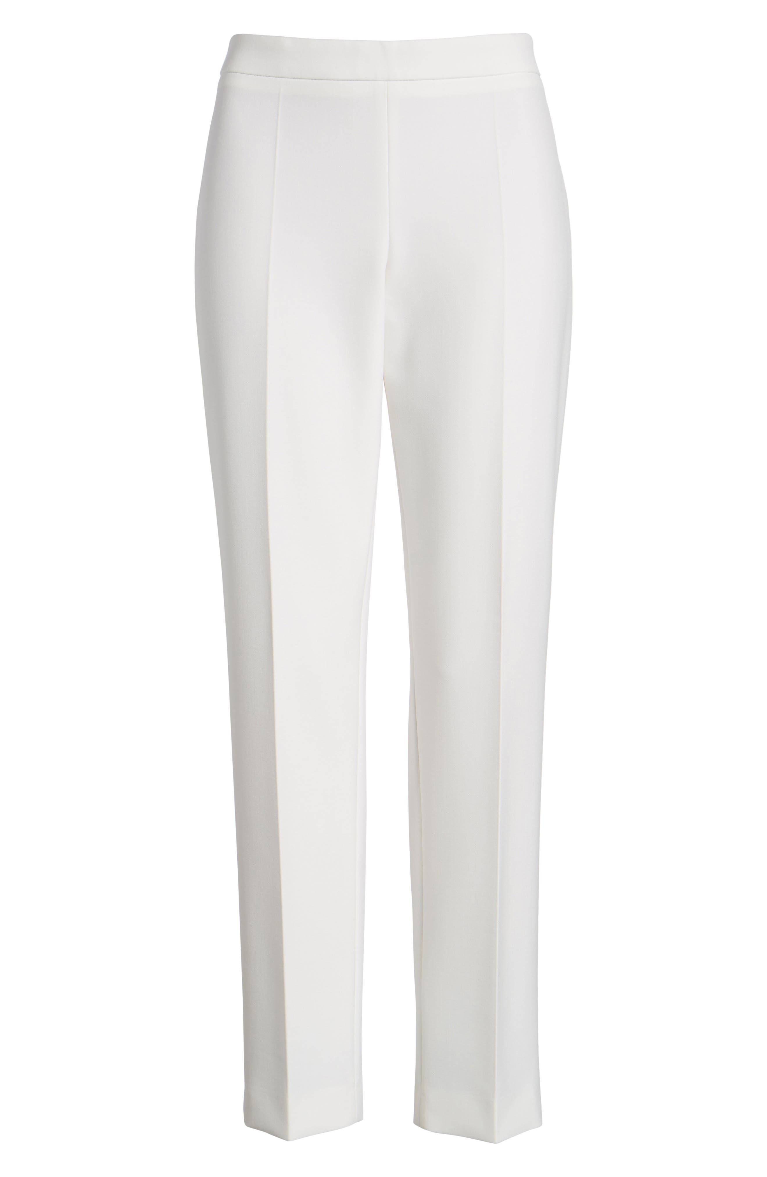 Tiluna Side Zip Ponte Trousers,                             Alternate thumbnail 7, color,