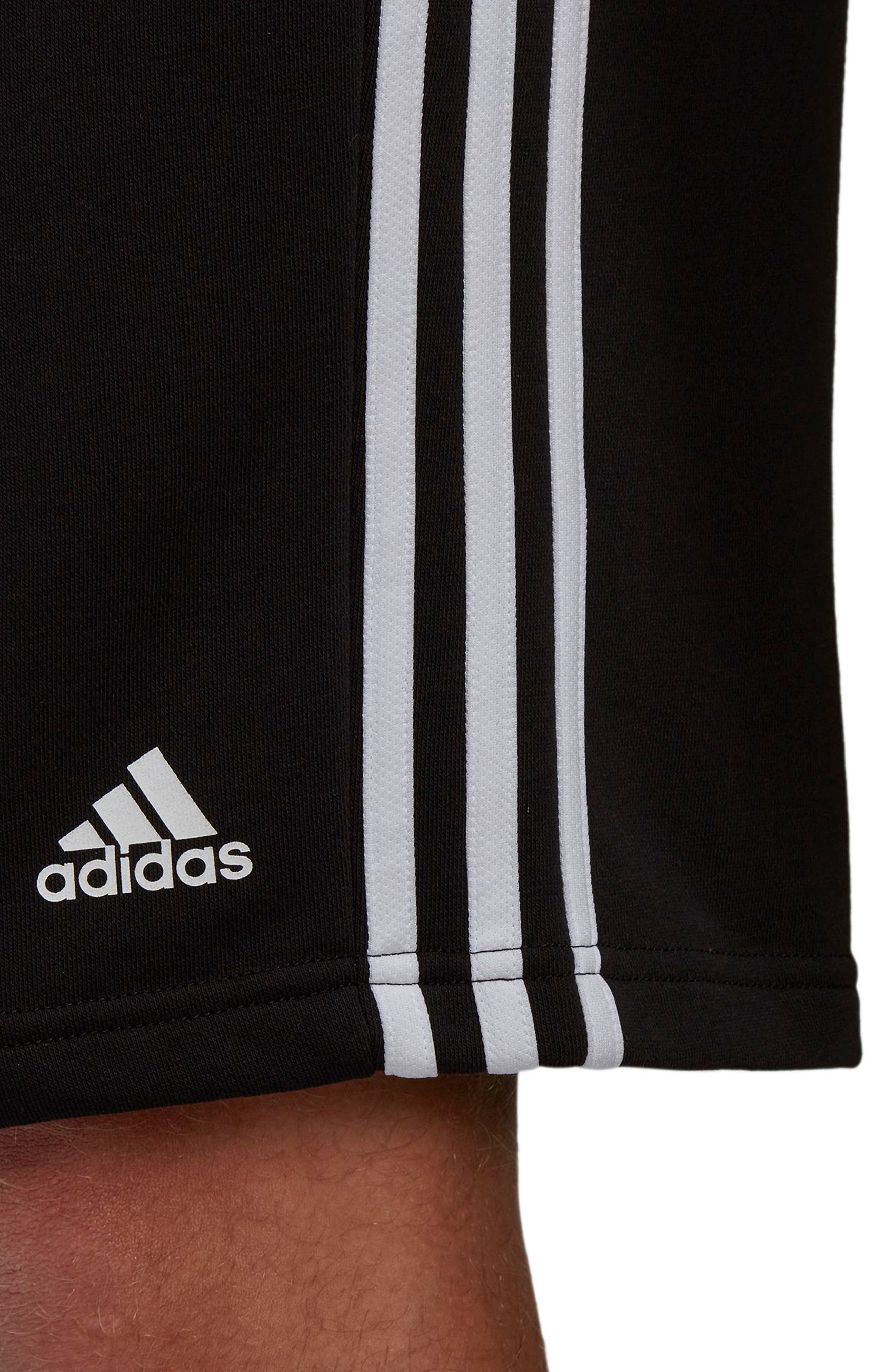 ADIDAS,                             Essentials French Terry Shorts,                             Alternate thumbnail 7, color,                             BLACK/ WHITE
