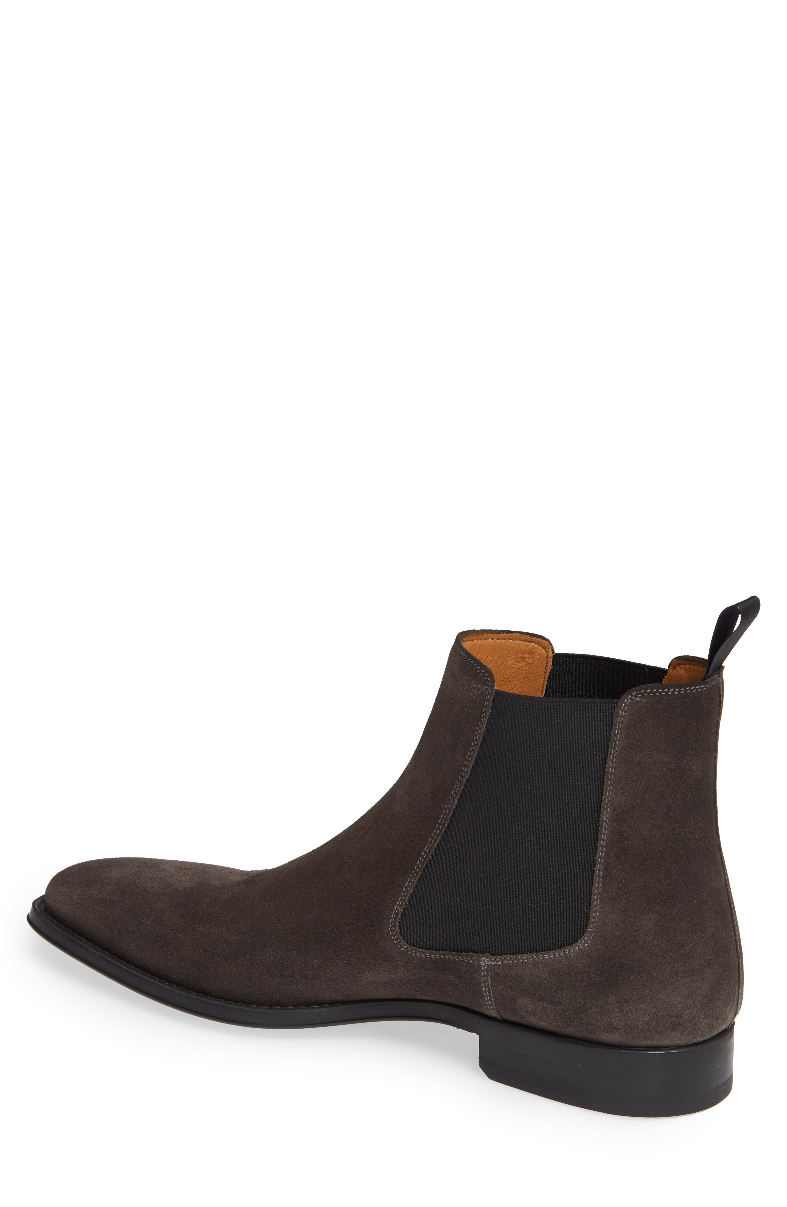 'Sean' Chelsea Boot,                             Alternate thumbnail 2, color,                             GREY LEATHER