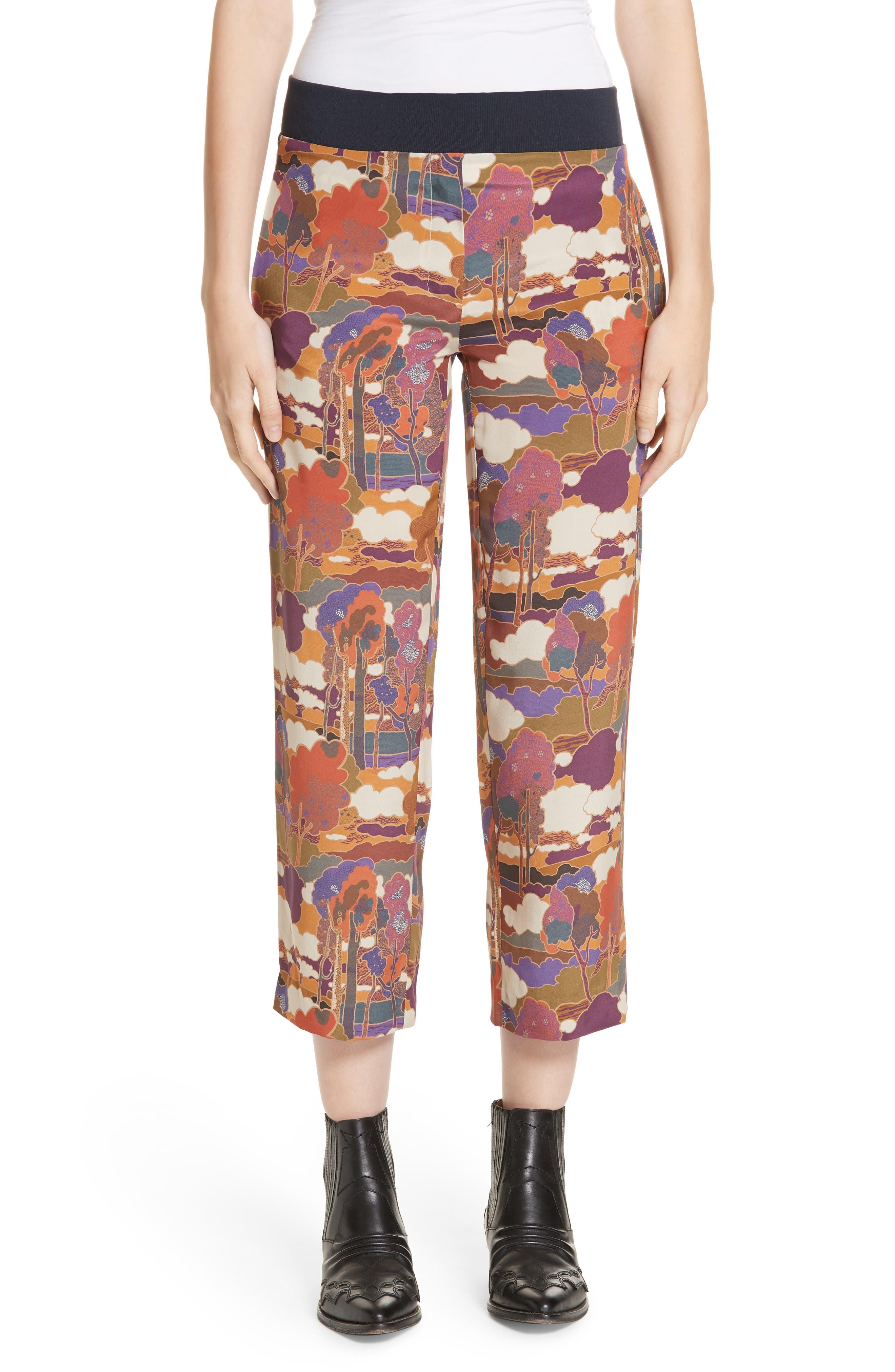 ROSEANNA Kors Silk Crop Pants in Multi Ocre