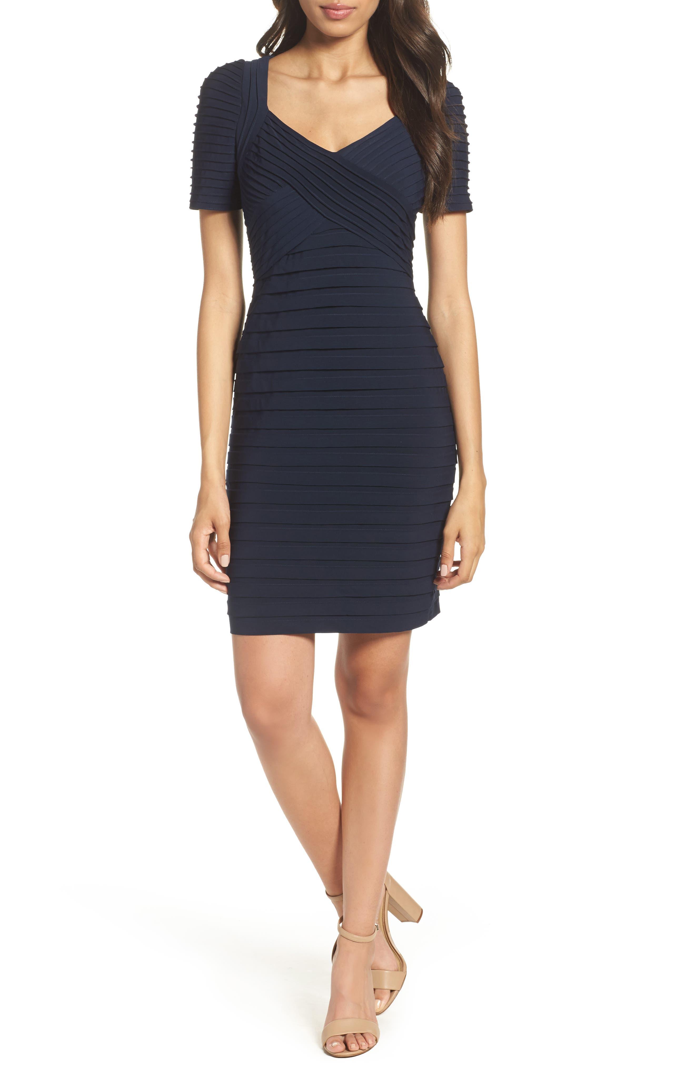 Pleat Sheath Dress,                         Main,                         color,