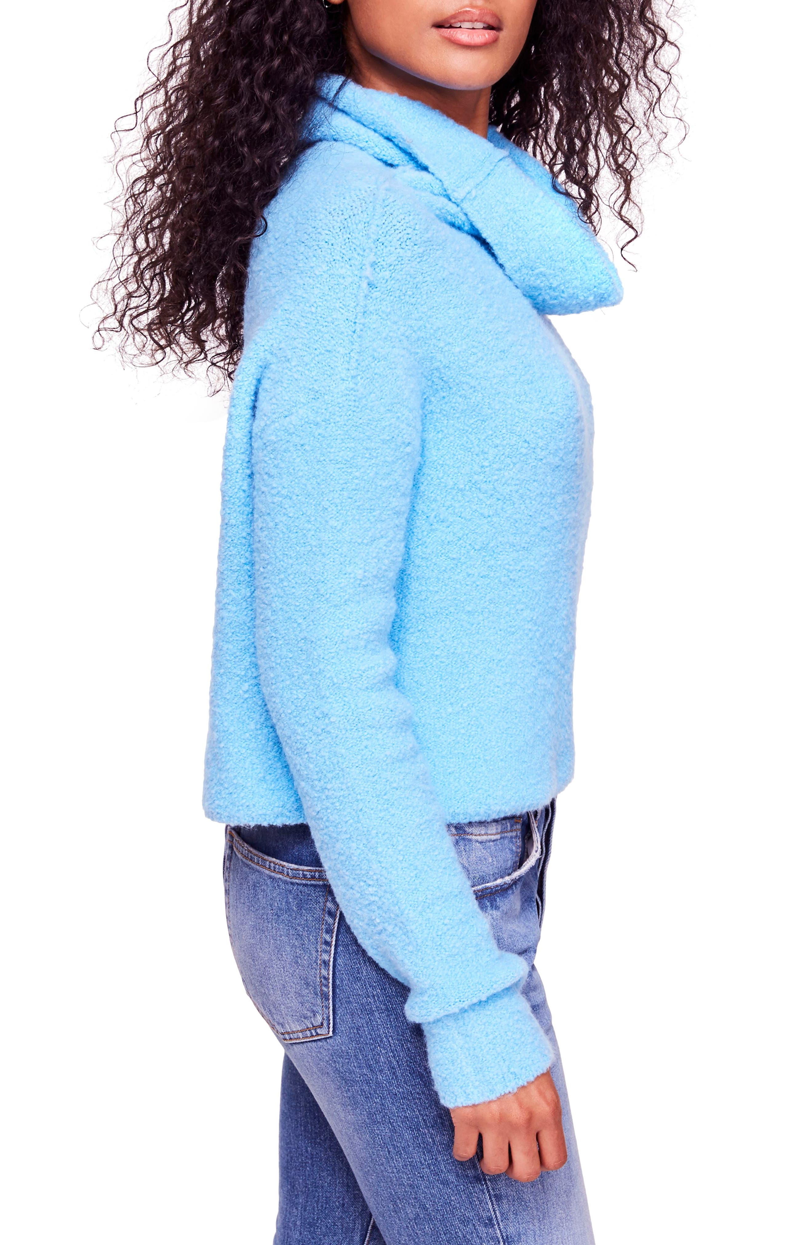 Stormy Cowl Neck Sweater,                             Alternate thumbnail 3, color,                             BLUE