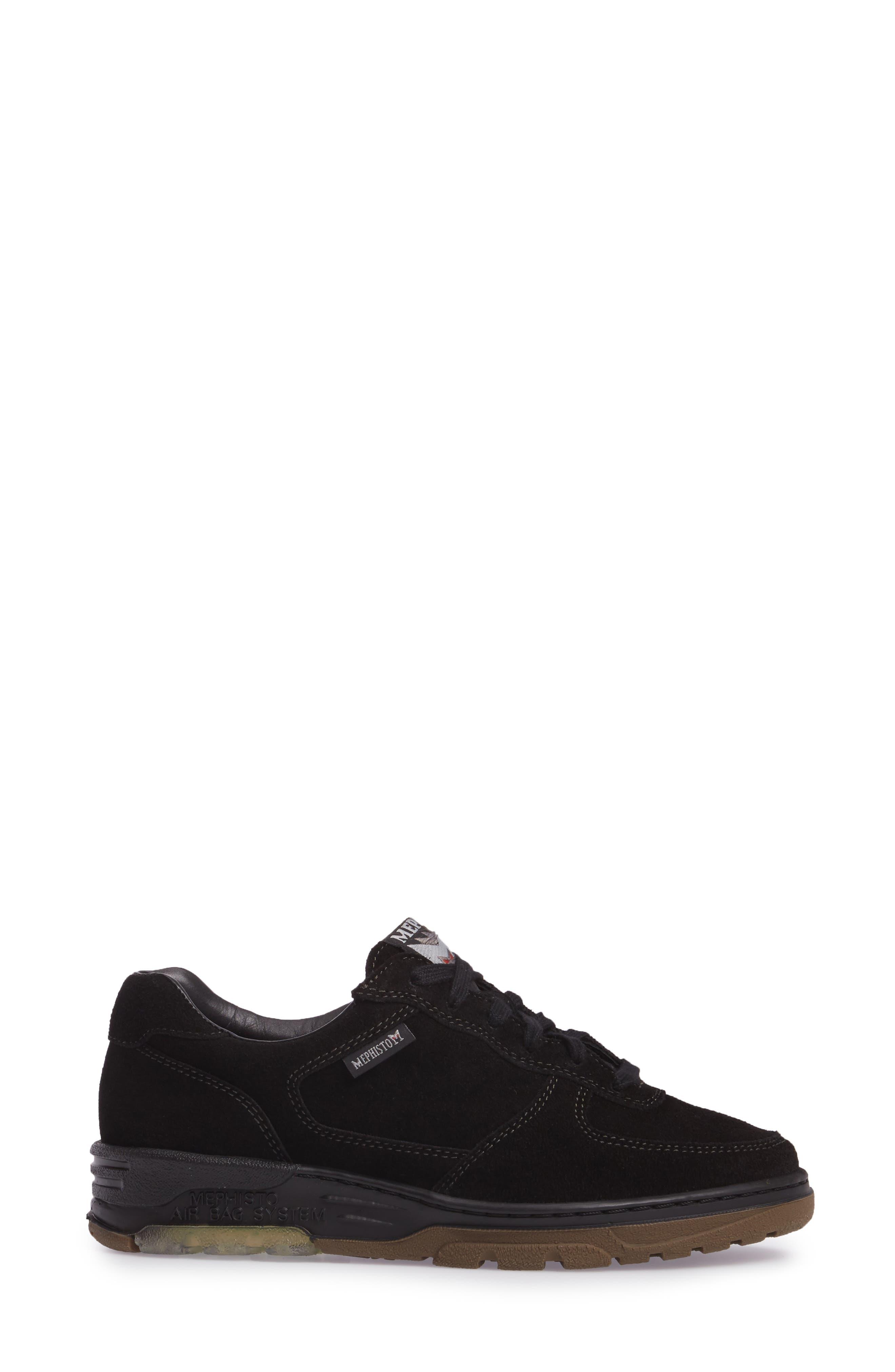 Nykita Sneaker,                             Alternate thumbnail 3, color,                             BLACK SUEDE