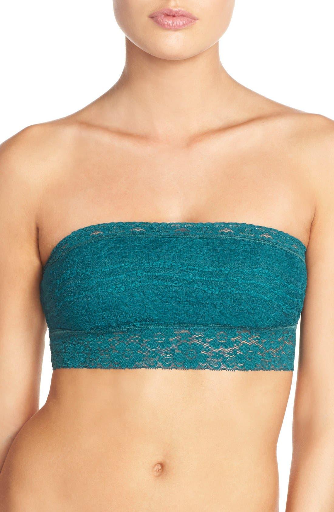 Intimately FP Lace Bandeau Bralette,                             Main thumbnail 1, color,                             OCEAN