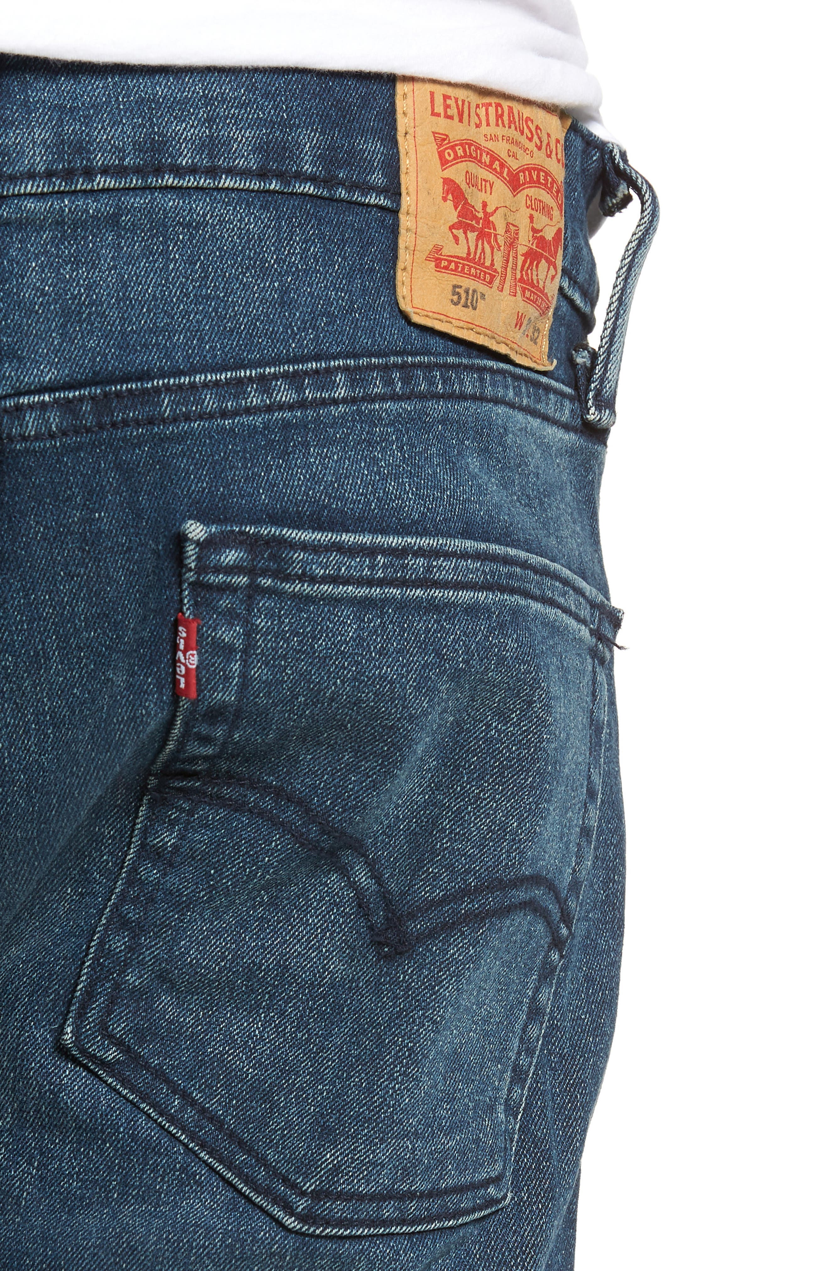 510<sup>™</sup> Skinny Fit Jeans,                             Alternate thumbnail 4, color,                             408