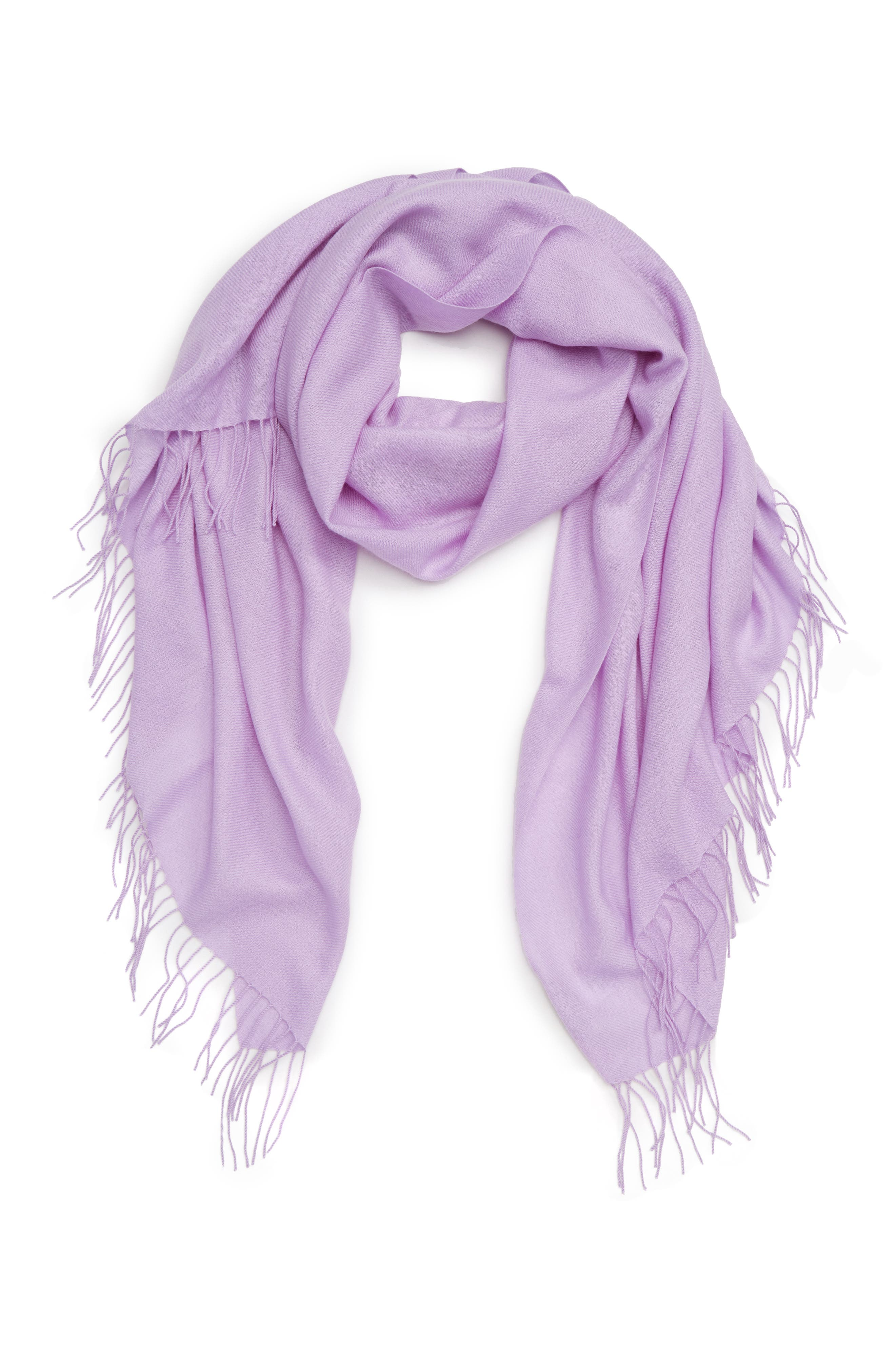 Tissue Weight Wool & Cashmere Scarf,                             Alternate thumbnail 77, color,
