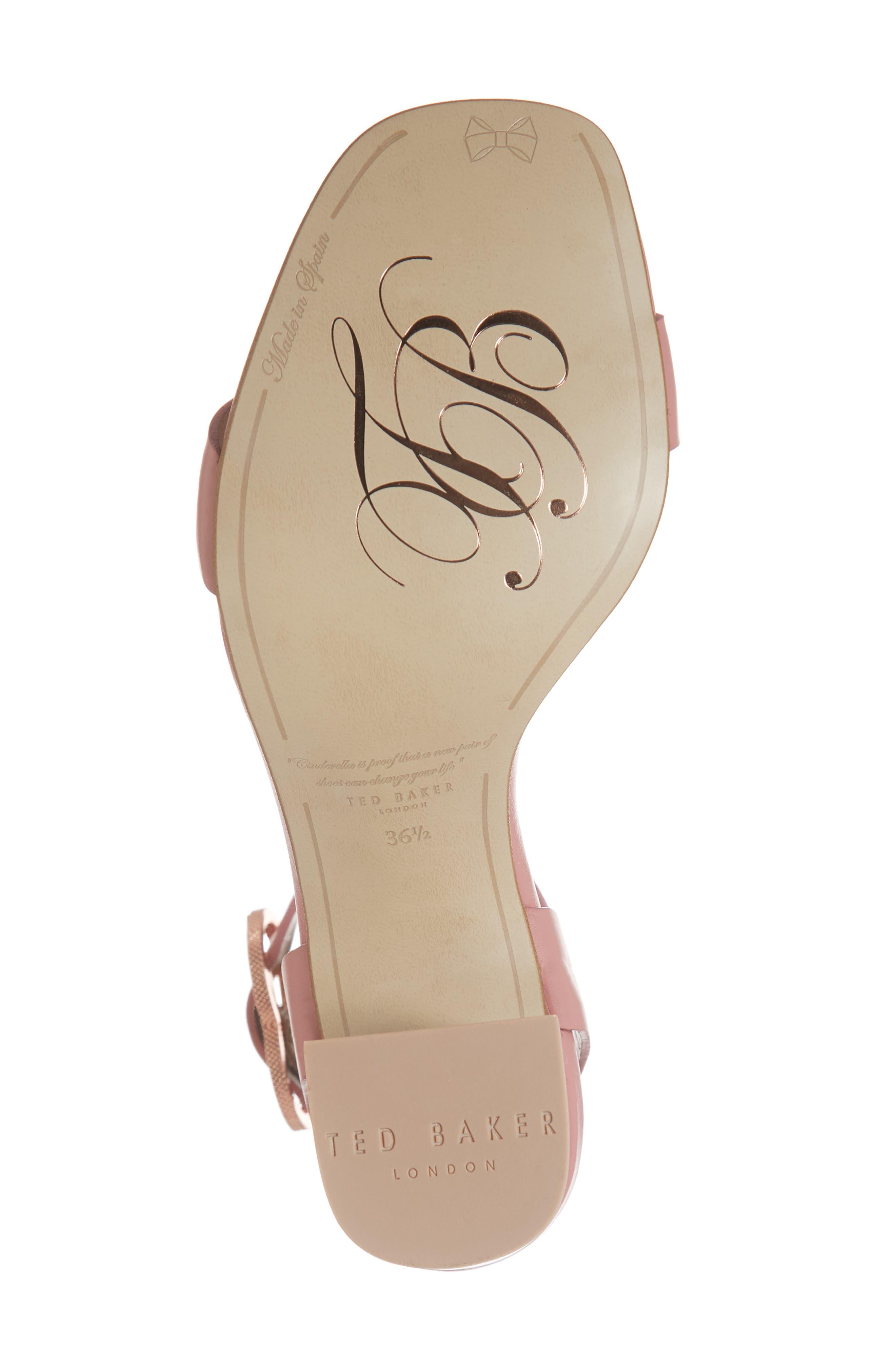 Vallama Block Heel Sandal,                             Alternate thumbnail 6, color,                             PINK LEATHER