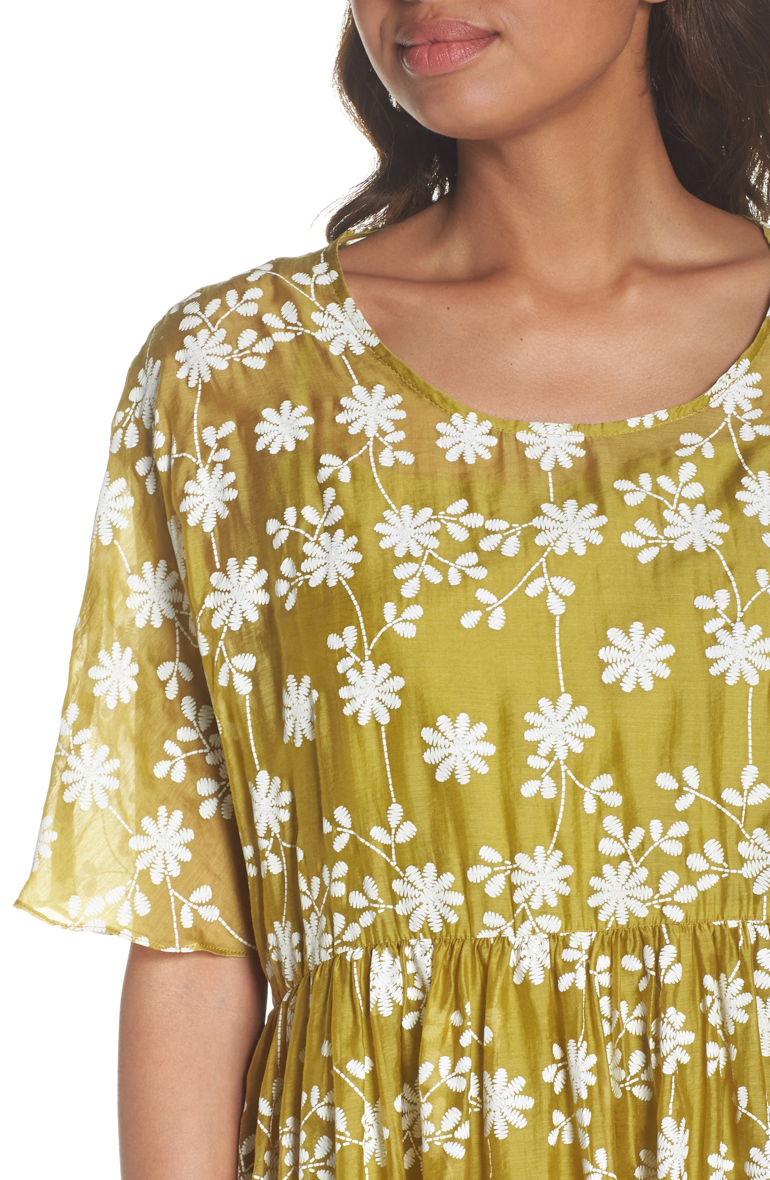 Daisy Picking Floral Dress,                             Alternate thumbnail 4, color,                             700