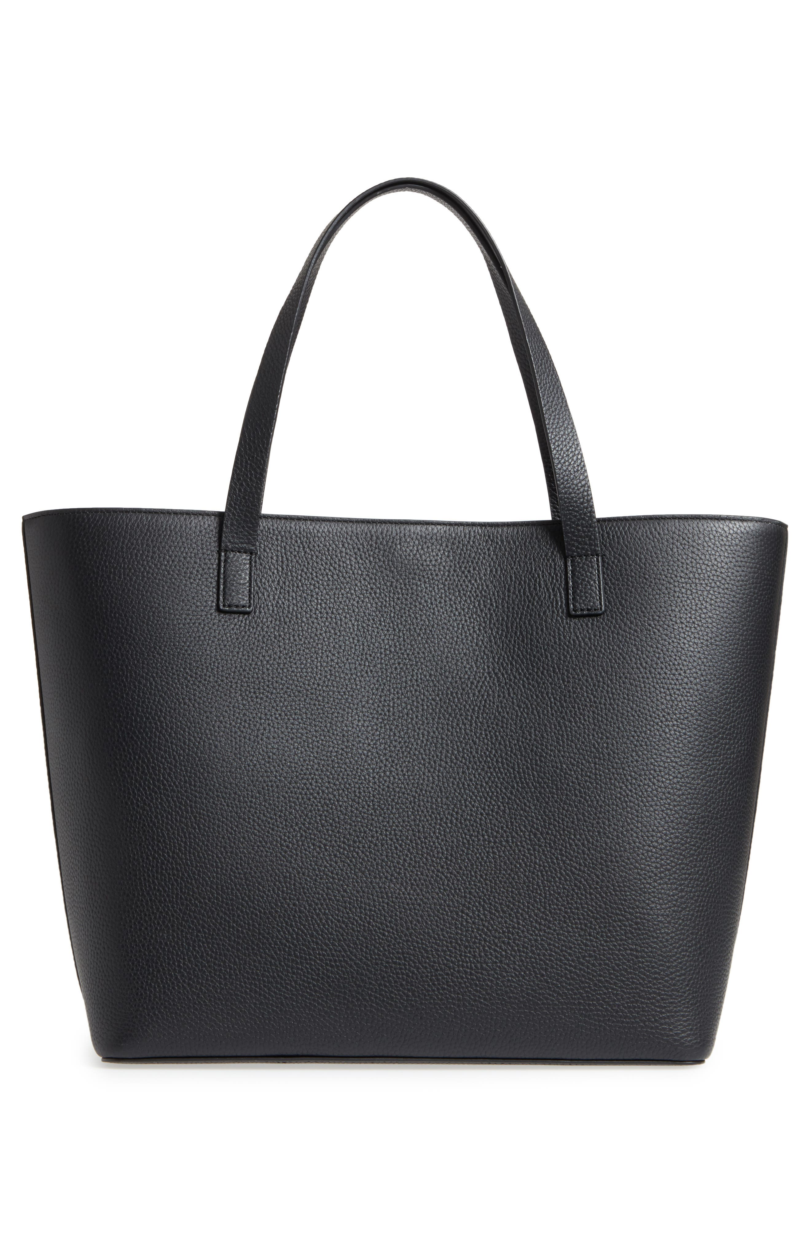 yours truly - ombré heart leather tote,                             Alternate thumbnail 3, color,