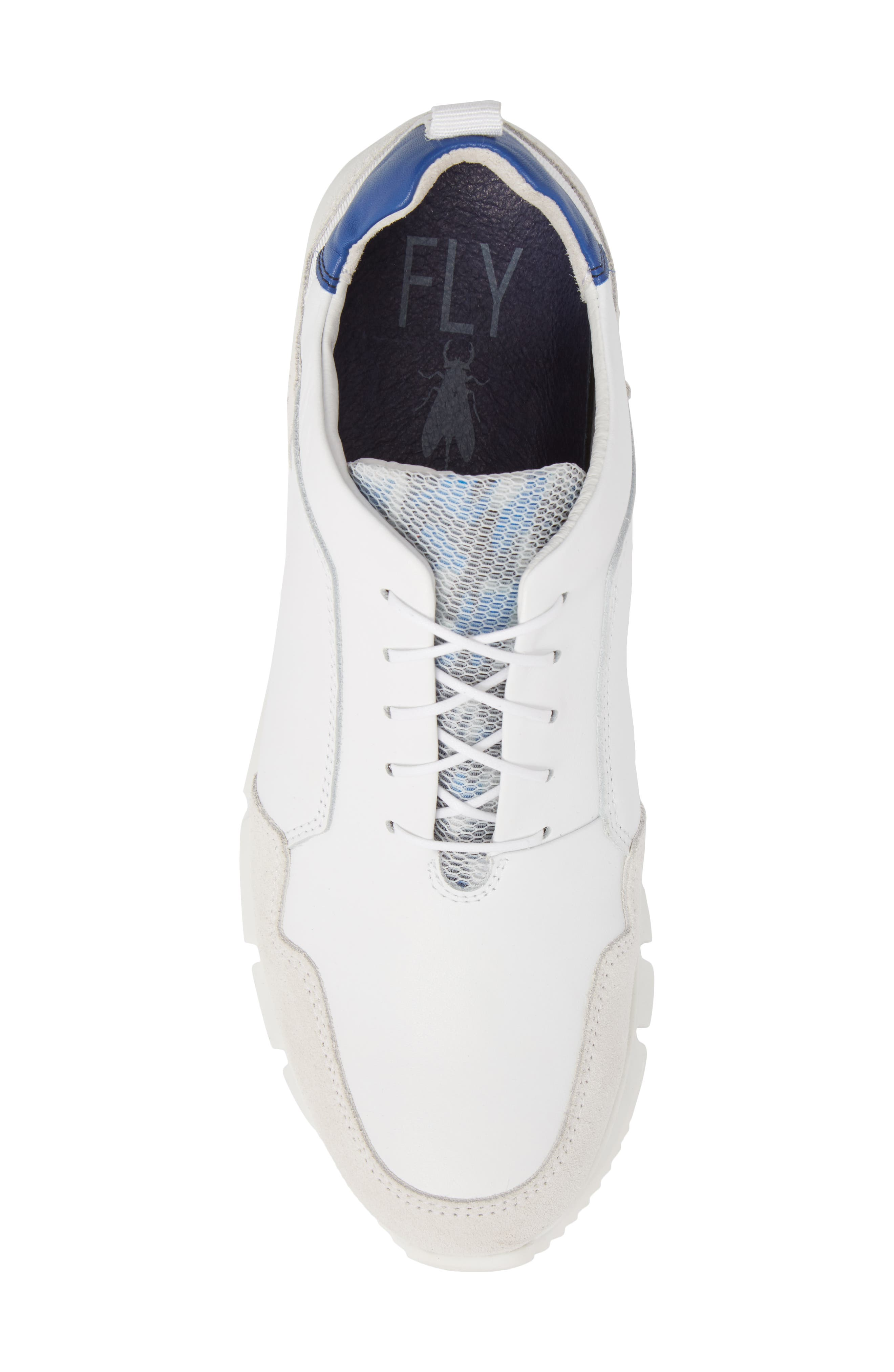 Sild Low Top Sneaker,                             Alternate thumbnail 5, color,                             WHITE SUEDE/ LEATHER