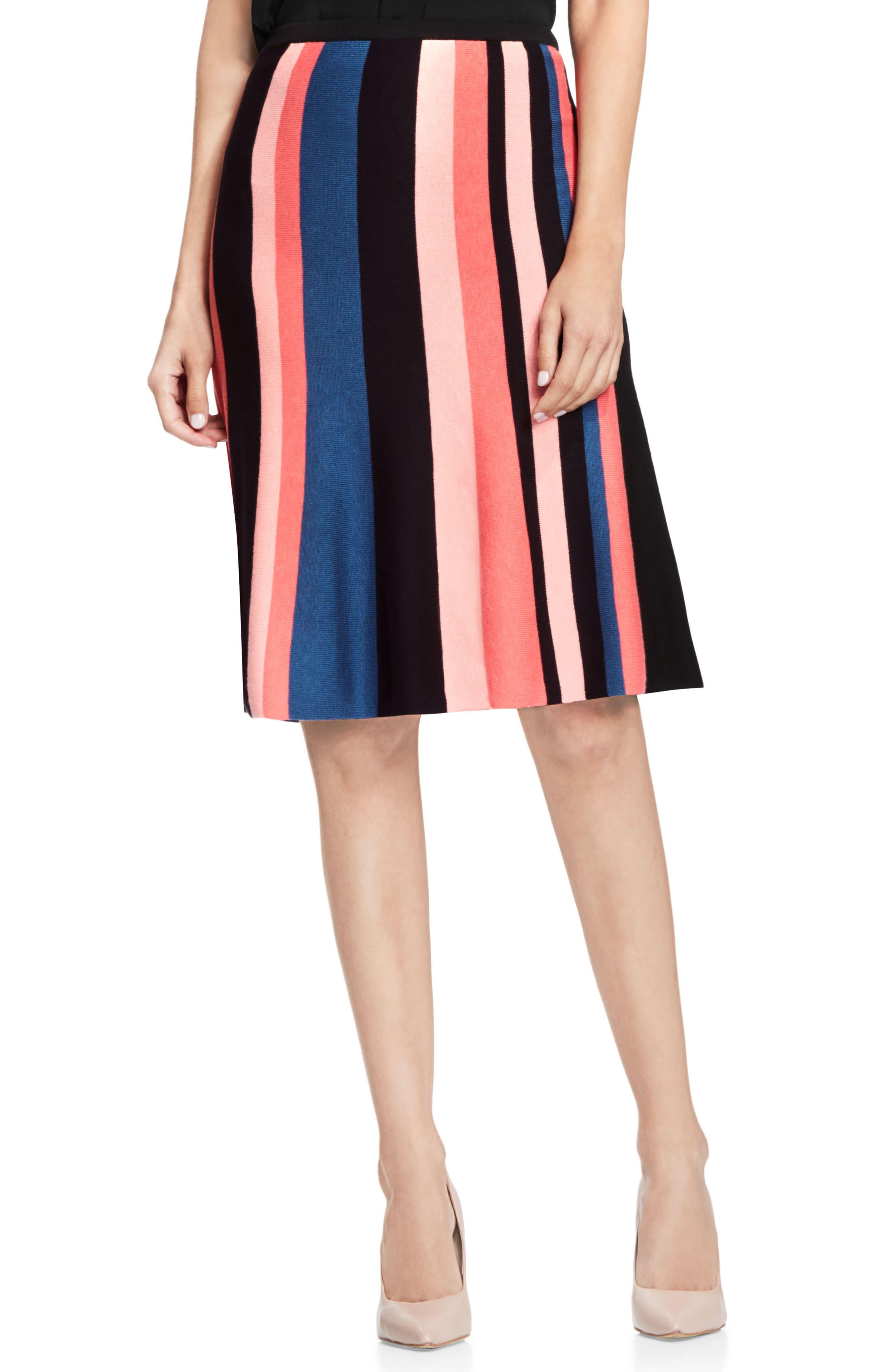 Multistripe Flare Skirt,                             Main thumbnail 1, color,                             006