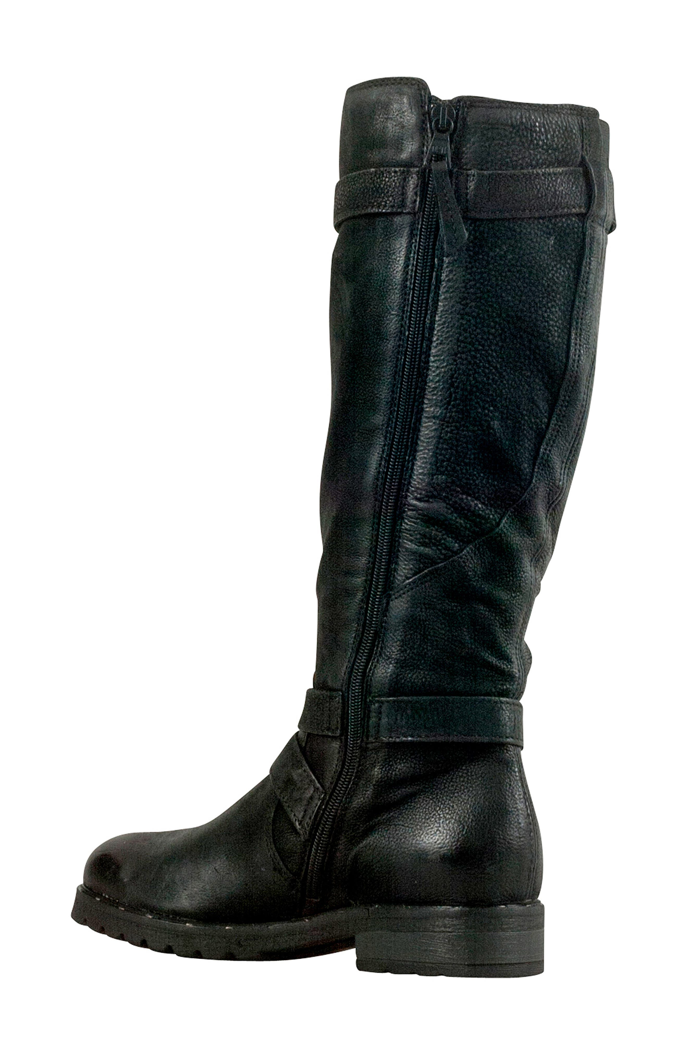 Prim Knee High Boot,                             Alternate thumbnail 2, color,                             BLACK LEATHER