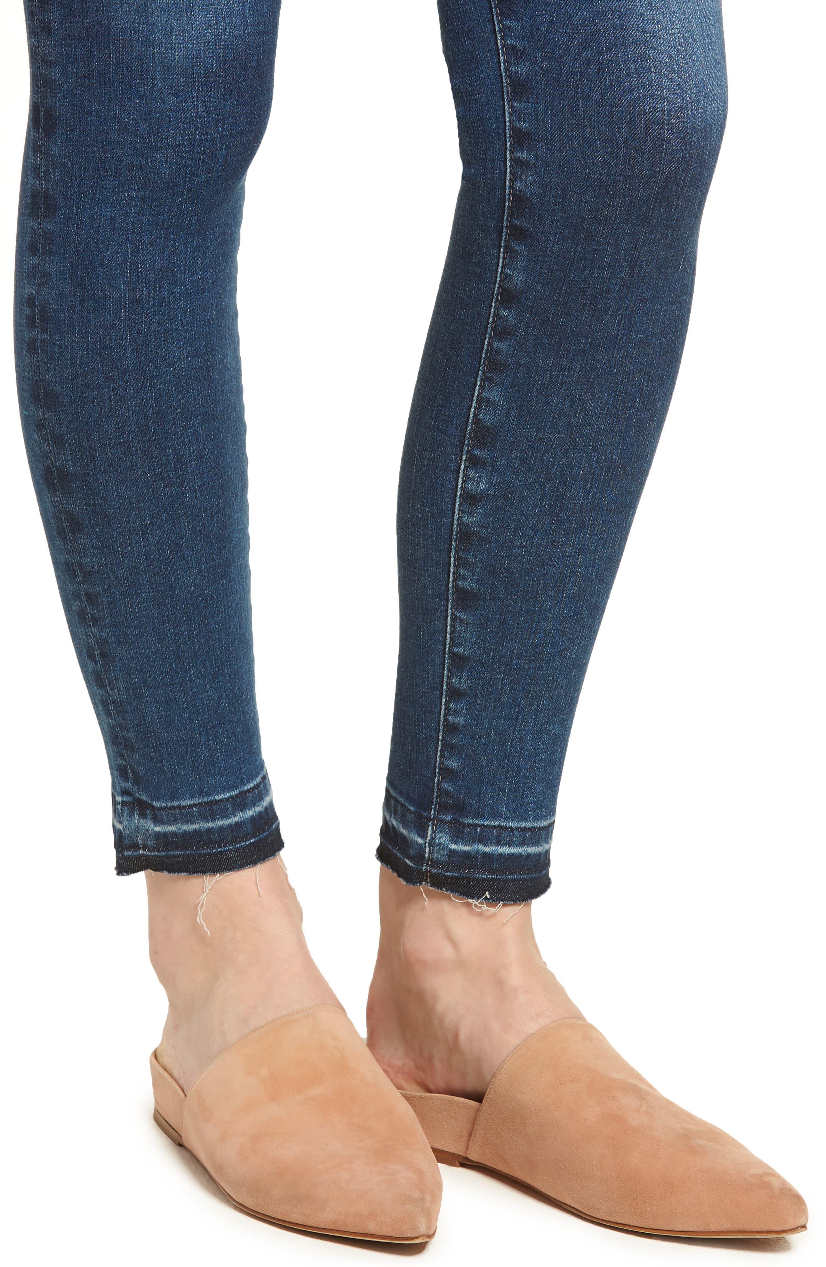 The Legging Ankle Super Skinny Jeans,                             Alternate thumbnail 4, color,                             421