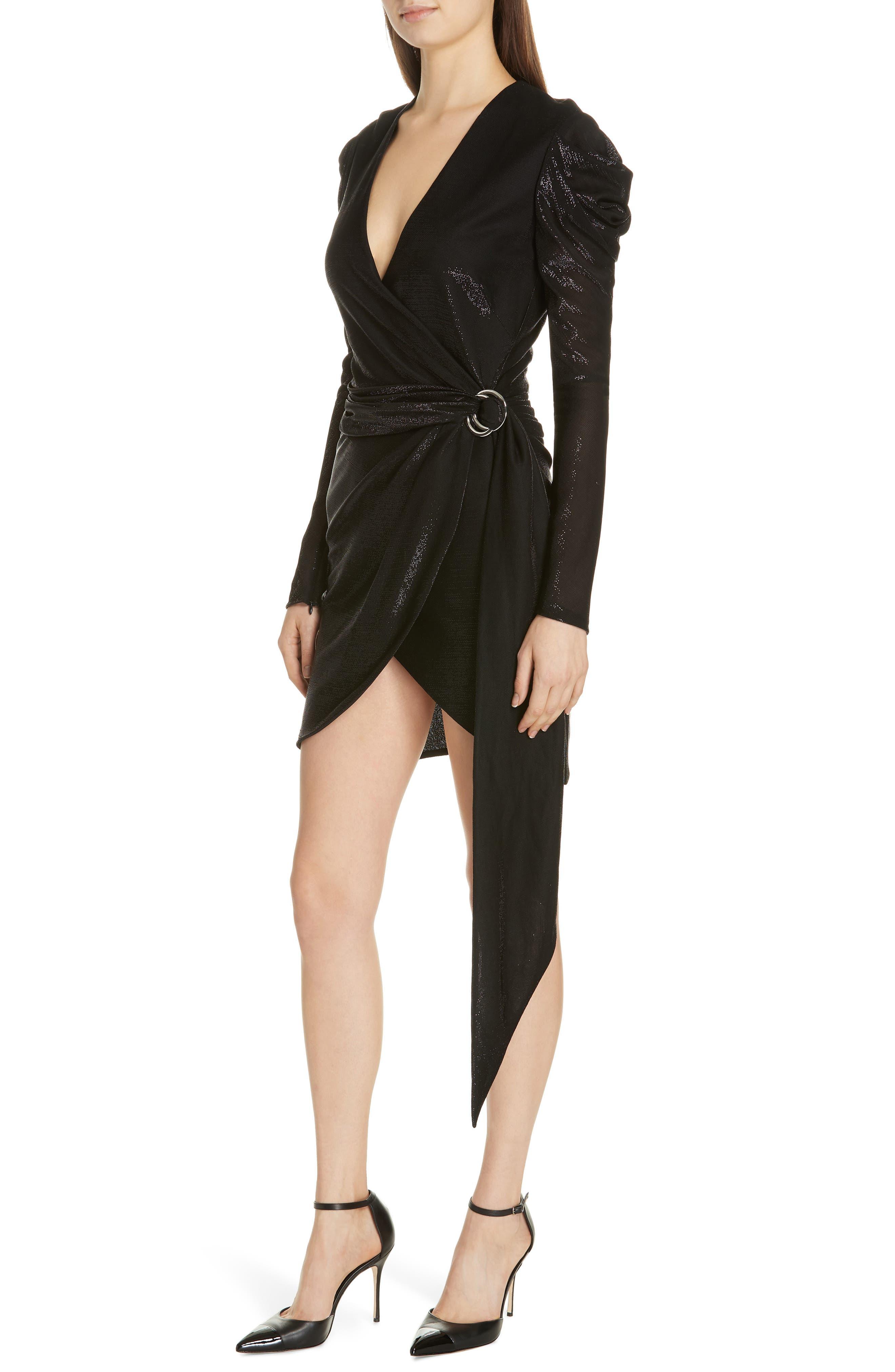 JONATHAN SIMKHAI,                             Metallic Knit Dress,                             Alternate thumbnail 4, color,                             BLACK