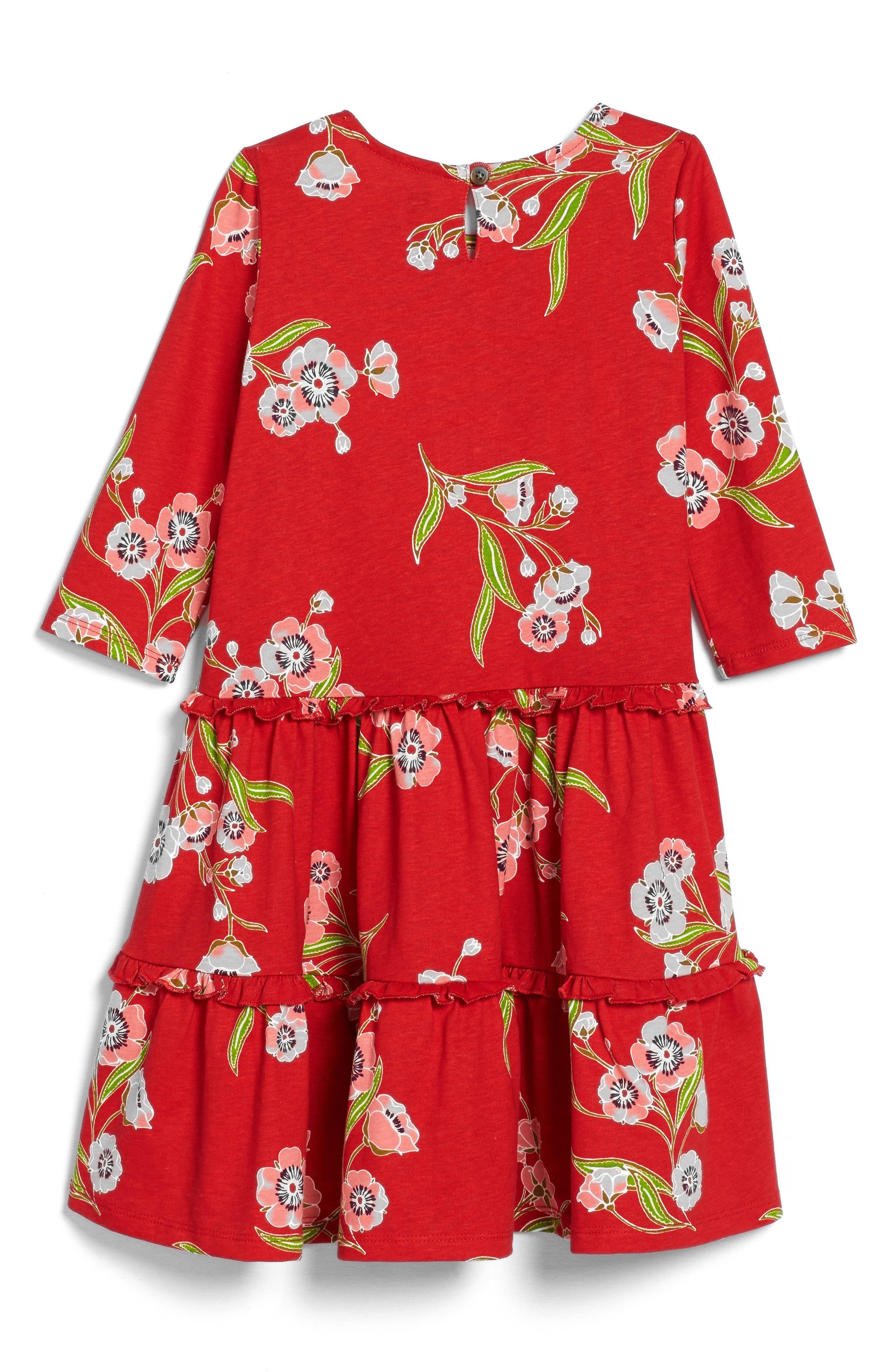 Rowan Floral Print Tiered Dress,                             Alternate thumbnail 2, color,                             615