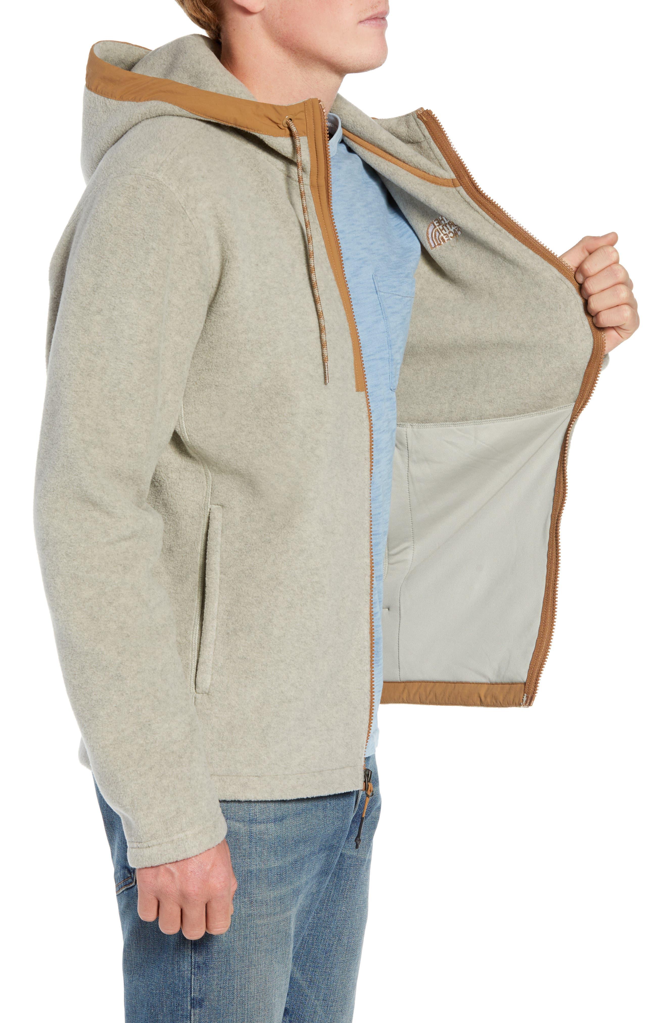 Pyrite Sweater Knit Fleece Hoodie,                             Alternate thumbnail 3, color,                             GRANITE BLUFF TAN HEATHER
