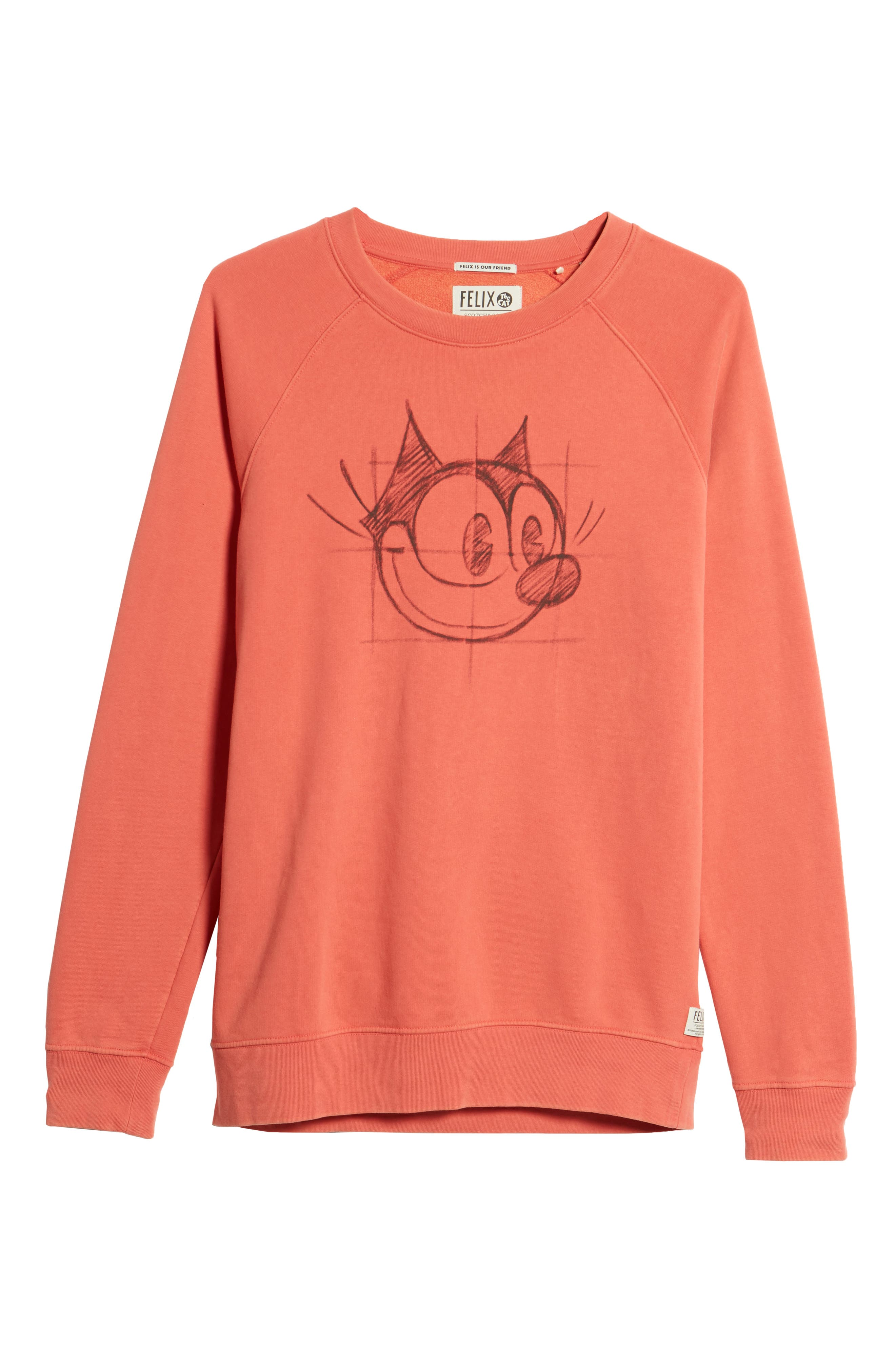 Amsterdams Blauw Felix the Cat Graphic Sweatshirt,                             Alternate thumbnail 6, color,                             RED GLOW