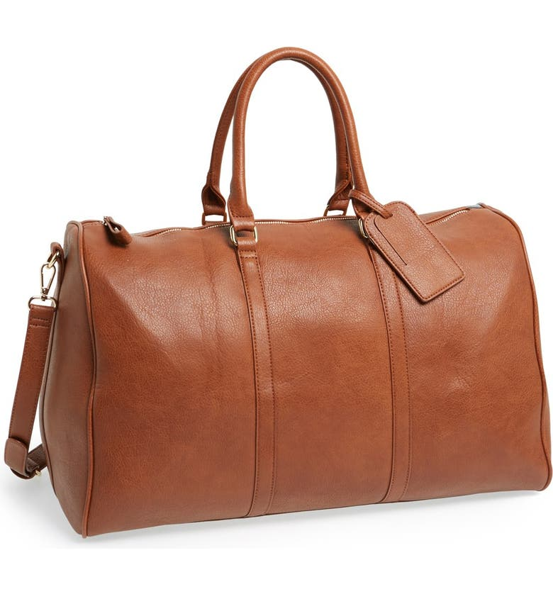 Sole Society  Lacie  Faux Leather Duffel Bag  e58eed9f9a89f