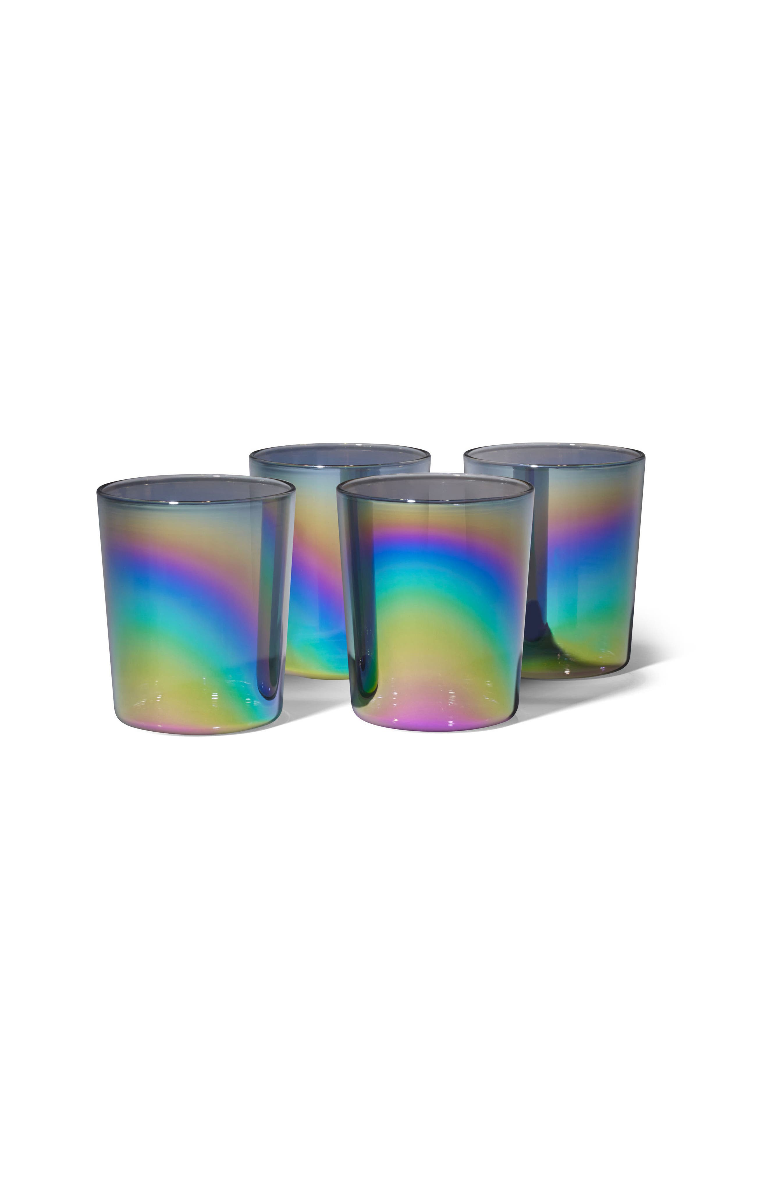 Shimmerware Set of 4 Rocks Glasses,                             Alternate thumbnail 2, color,                             960