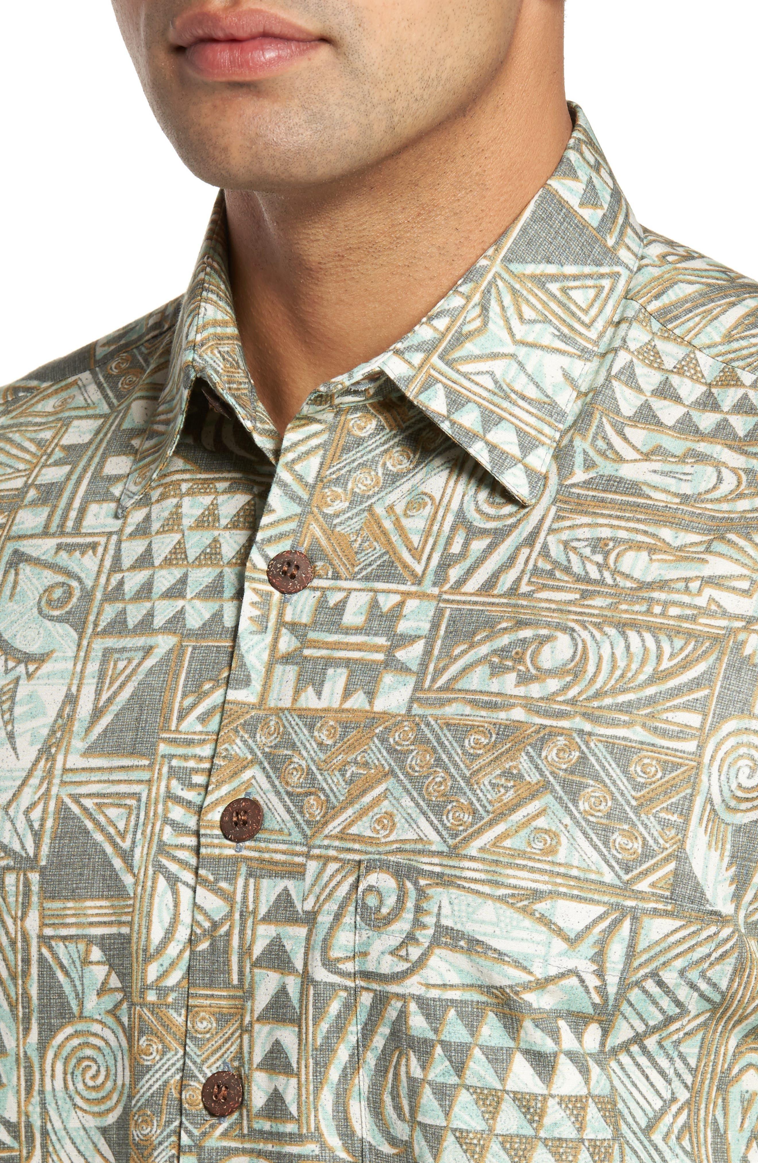 Ehukai Classic Fit Print Sport Shirt,                             Alternate thumbnail 4, color,                             020