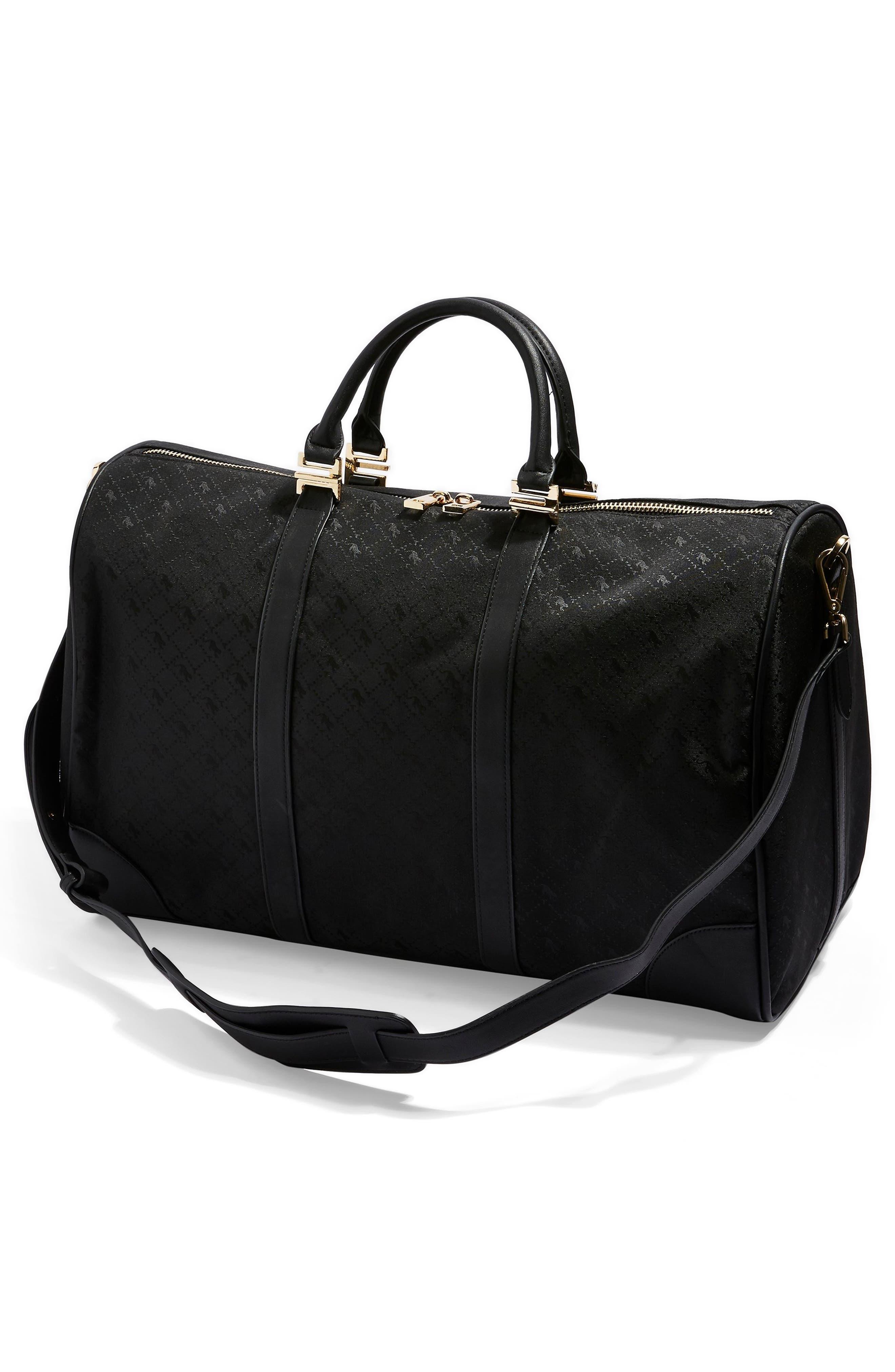 TOPSHOP,                             Large Madrid Duffel Bag,                             Alternate thumbnail 5, color,                             BLACK