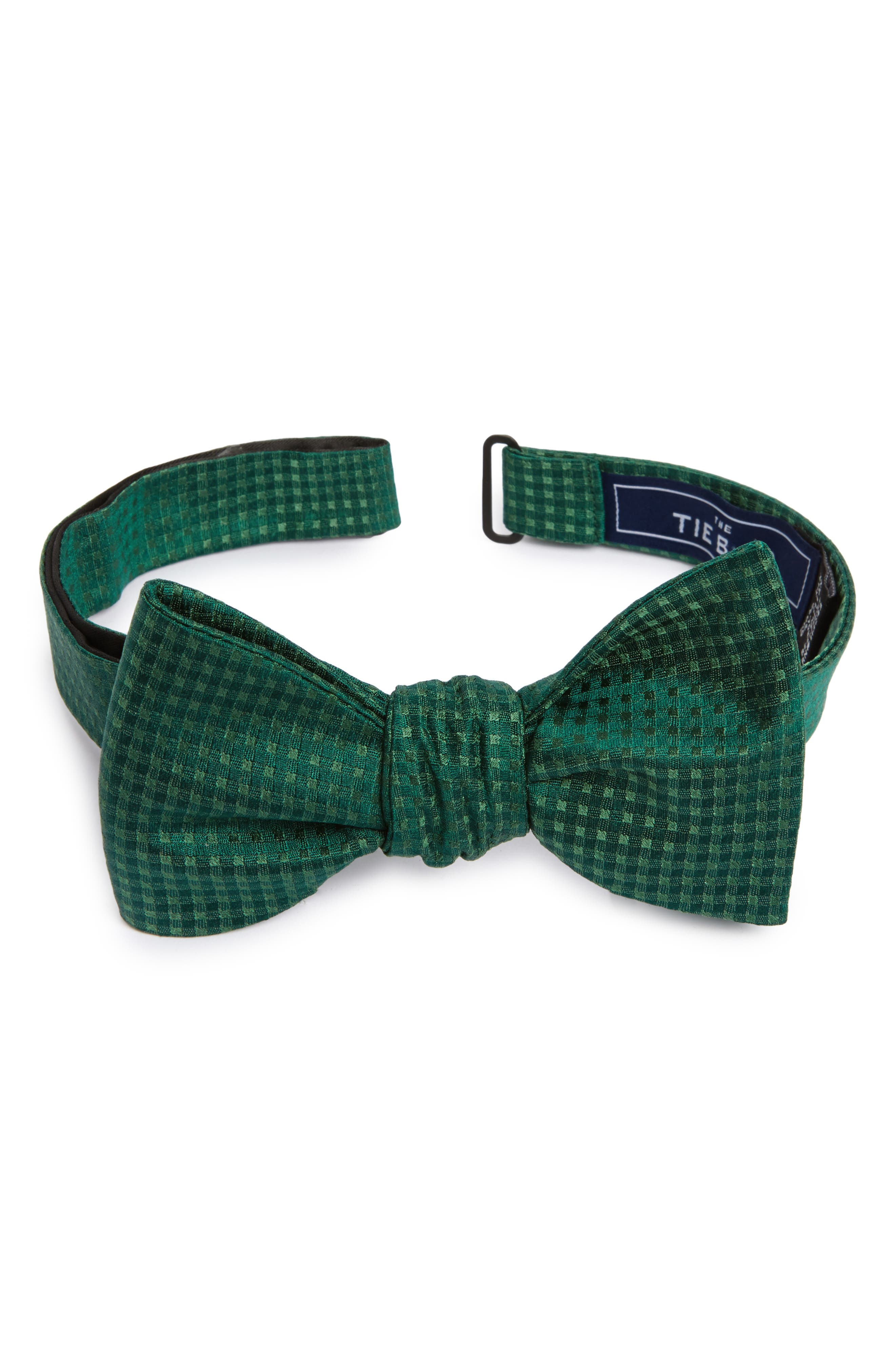 Check Mates Silk Bow Tie,                             Main thumbnail 1, color,                             307