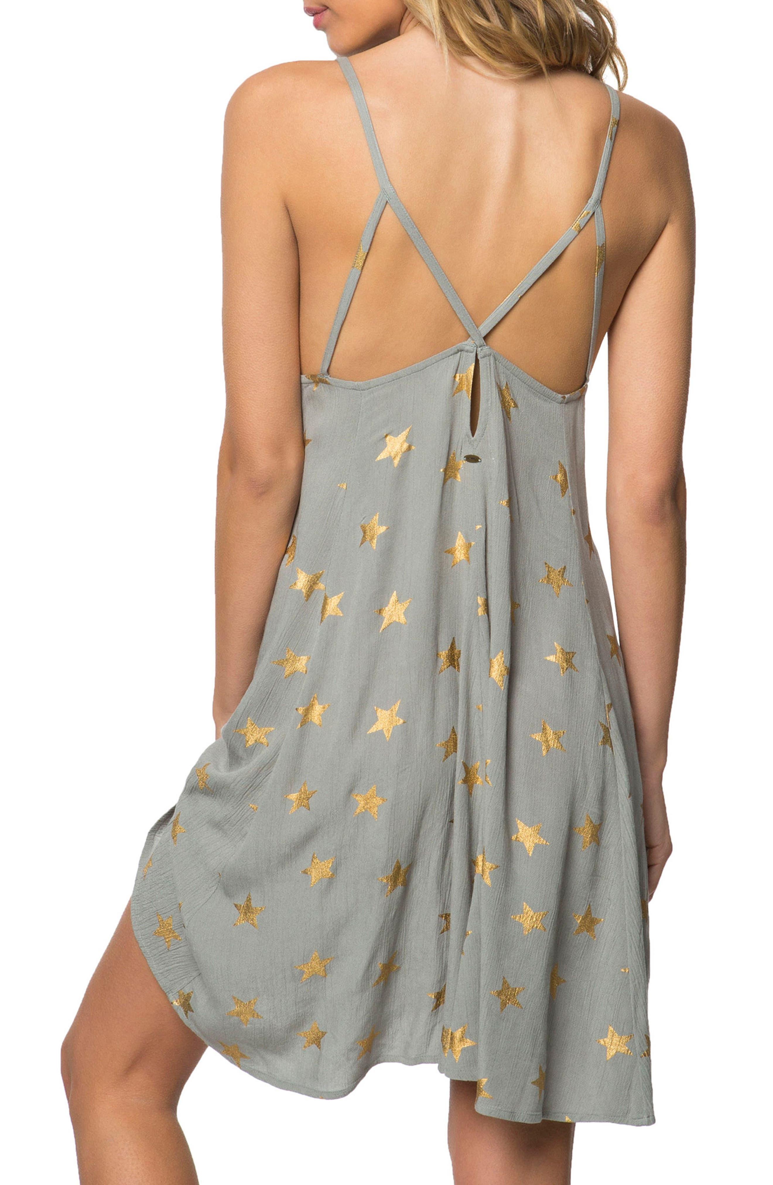 Faye Star Print Dress,                             Alternate thumbnail 2, color,                             020