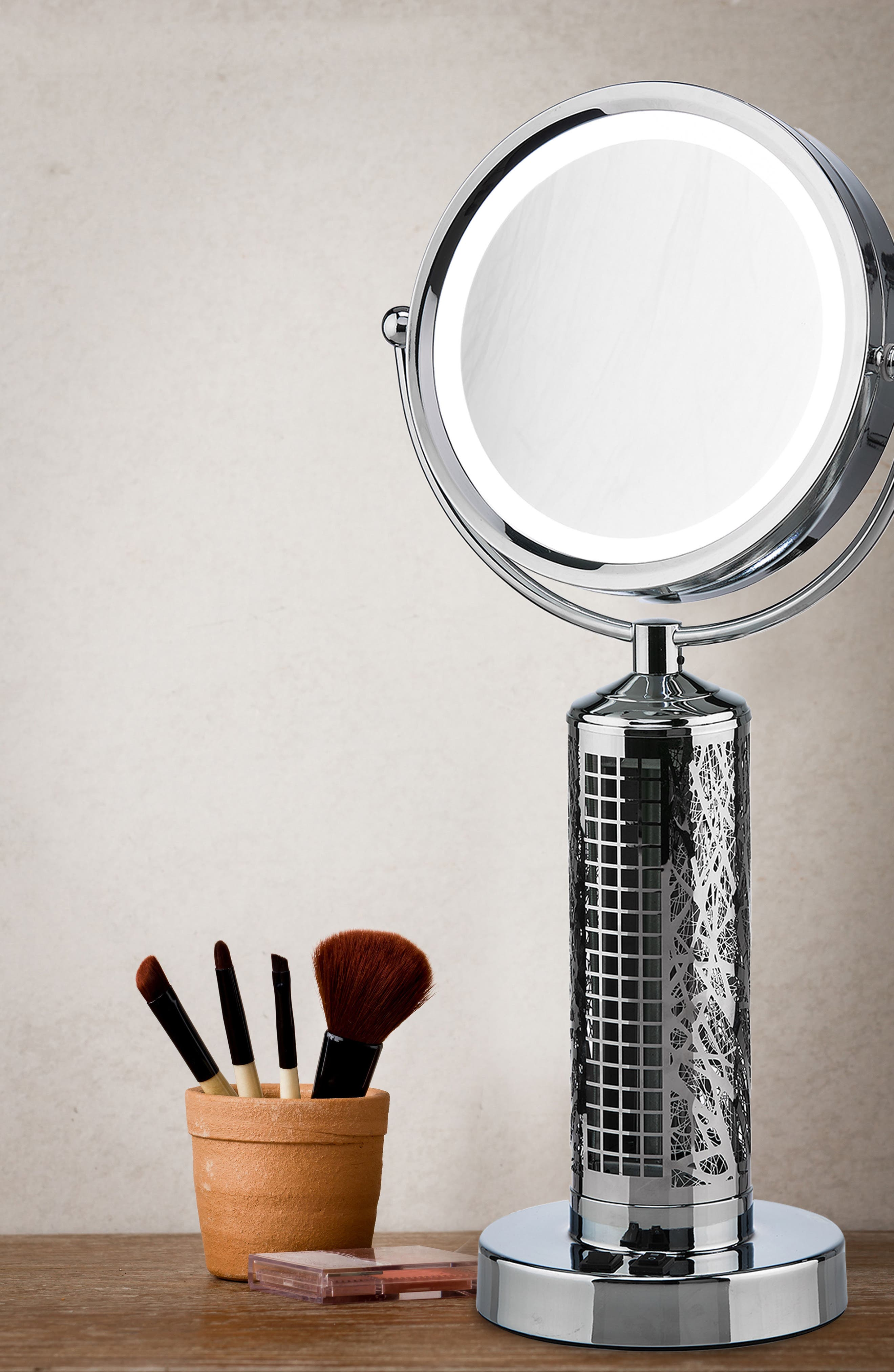 Fanity Makeup Mirror with Electric Fan,                             Alternate thumbnail 2, color,