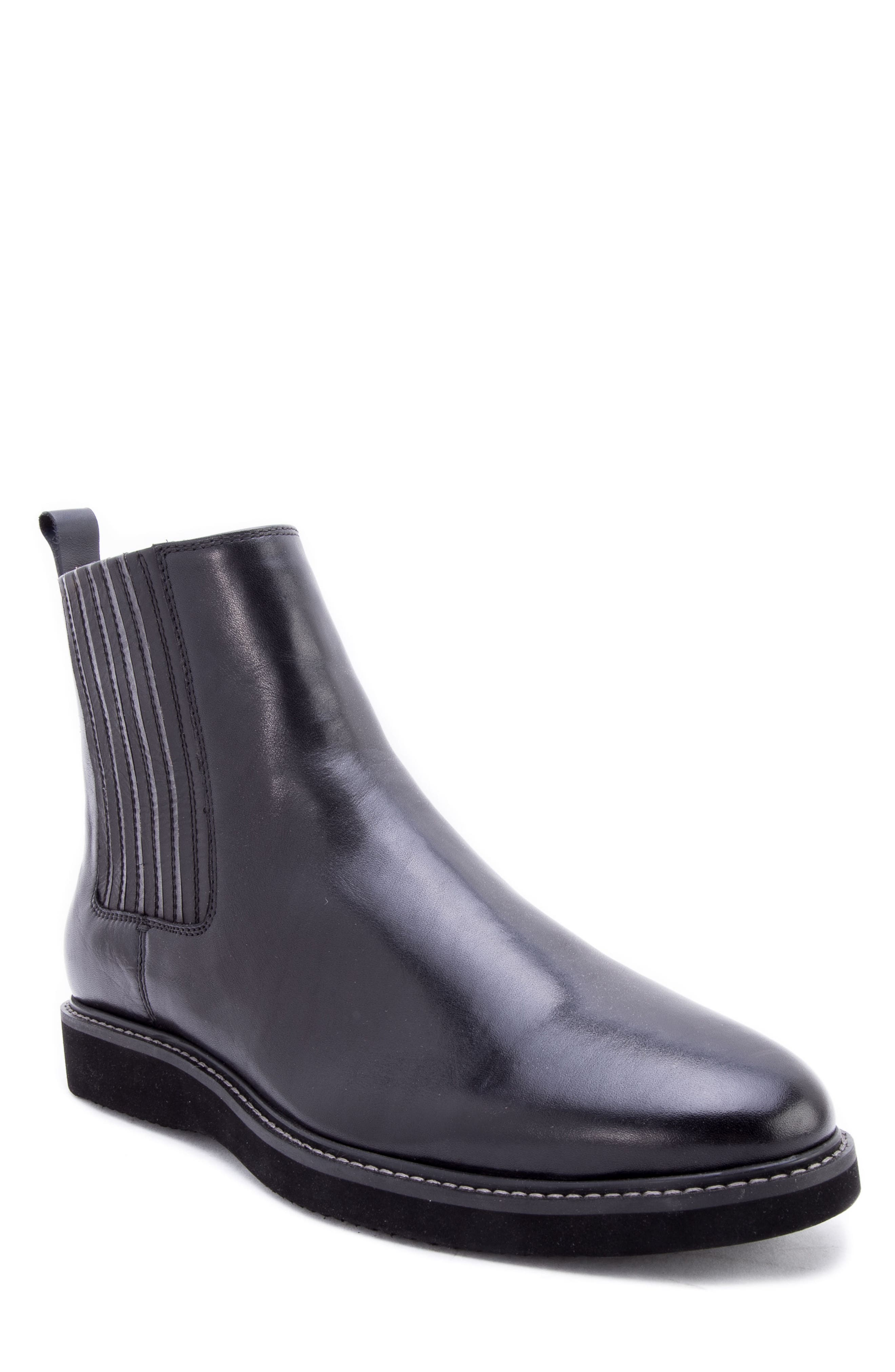 Warlow Chelsea Boot,                             Main thumbnail 1, color,                             BLACK LEATHER