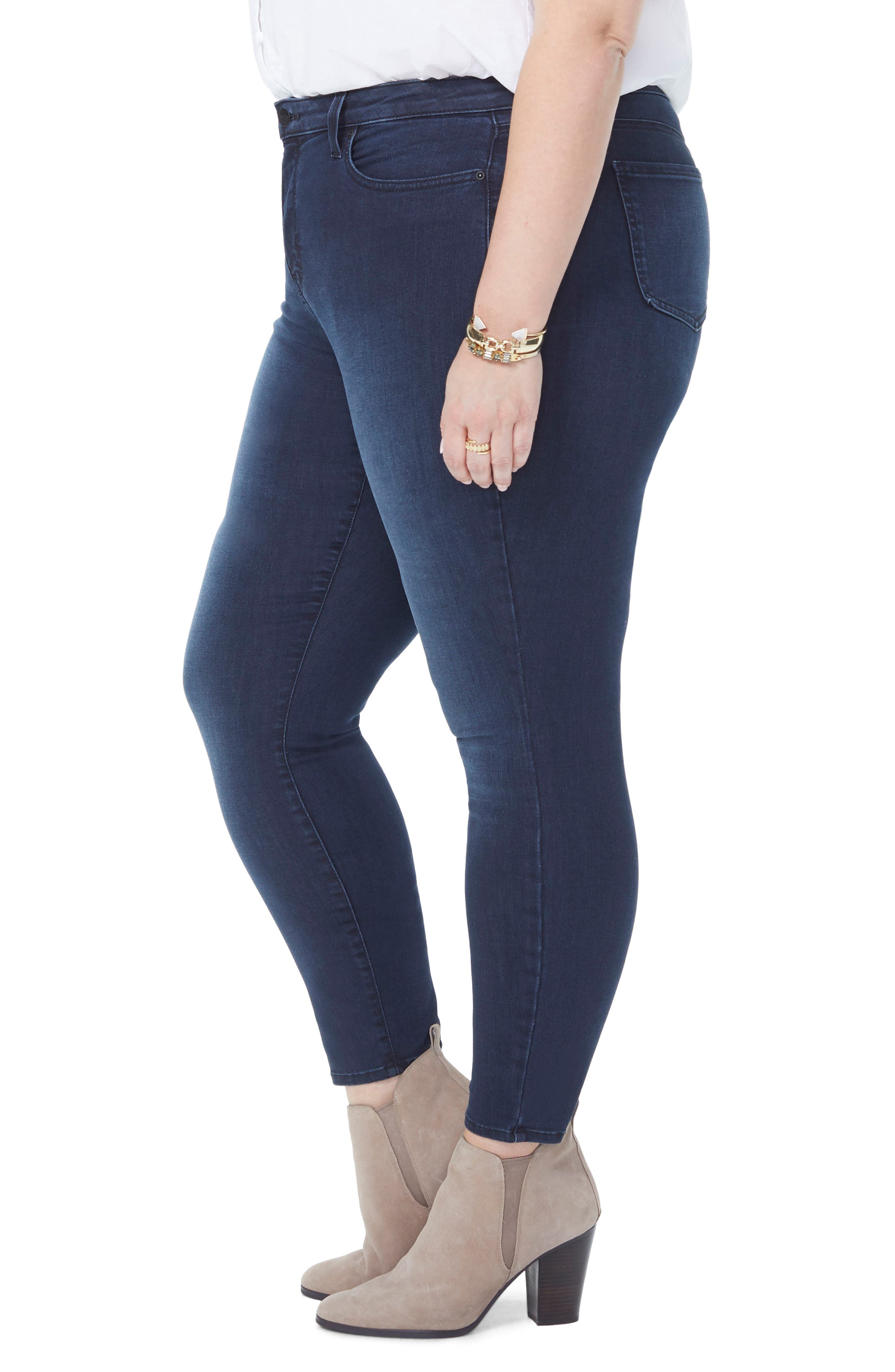 Ami Stretch Ankle Skinny Jeans,                             Alternate thumbnail 3, color,                             FALLEN