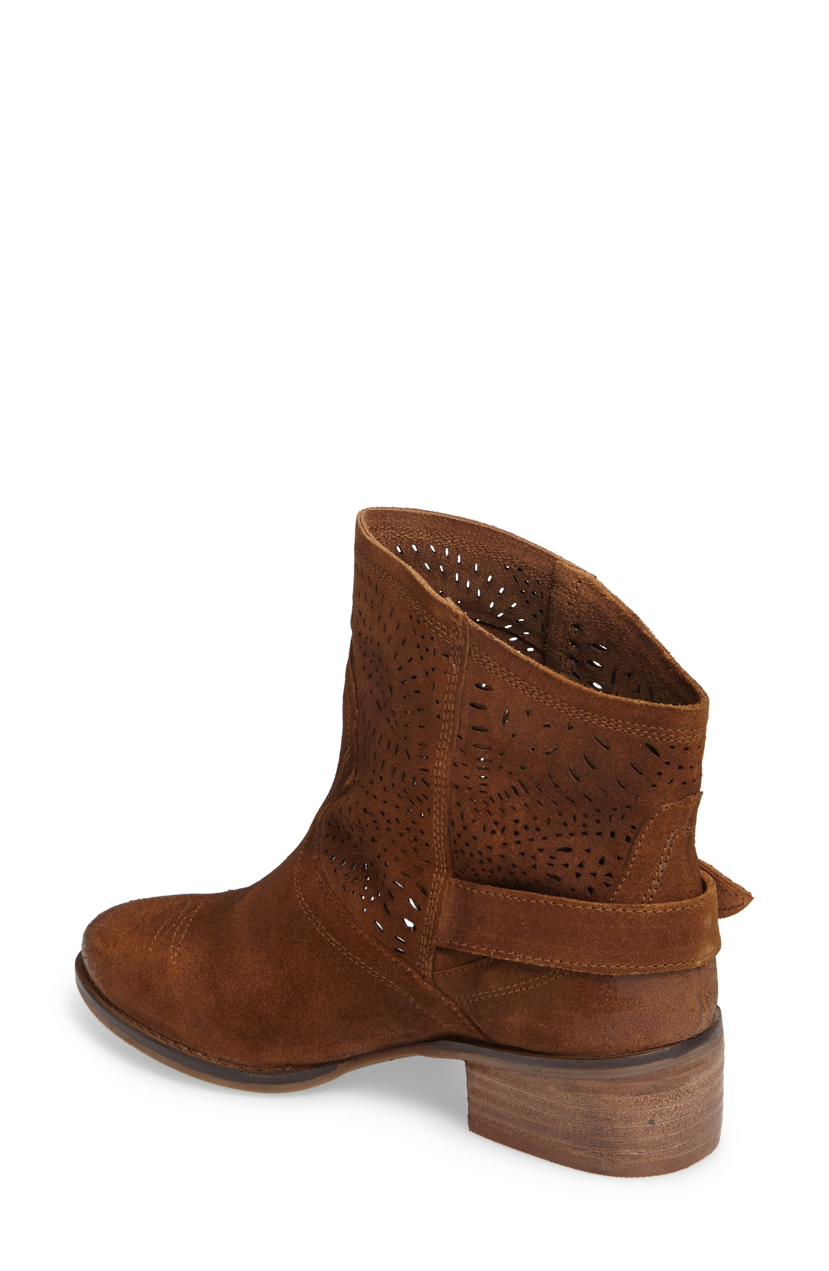 Zoey Perforated Bootie,                             Alternate thumbnail 6, color,
