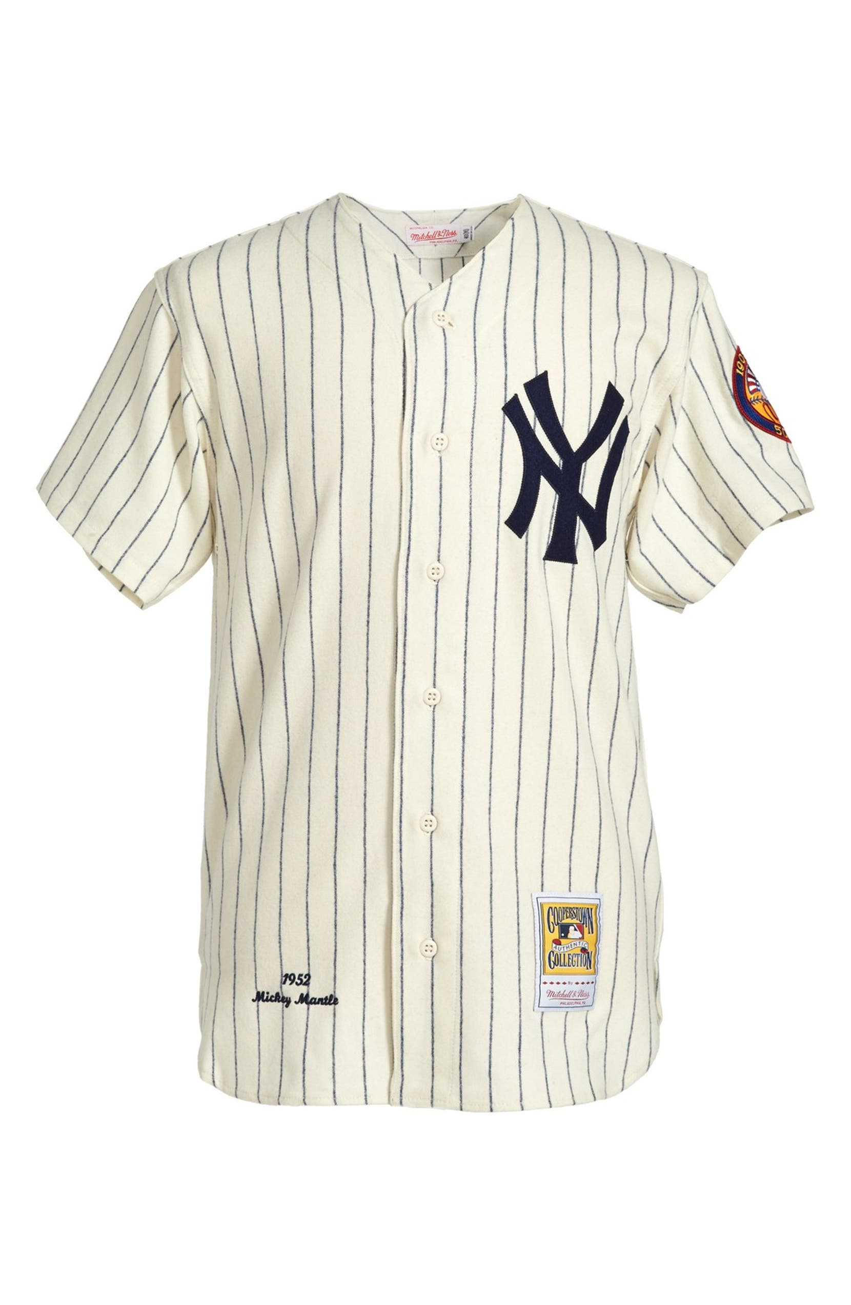 Mitchell   Ness  New York Yankees 1952 - Mickey Mantle Authentic  Home  Baseball Jersey  bd5182092