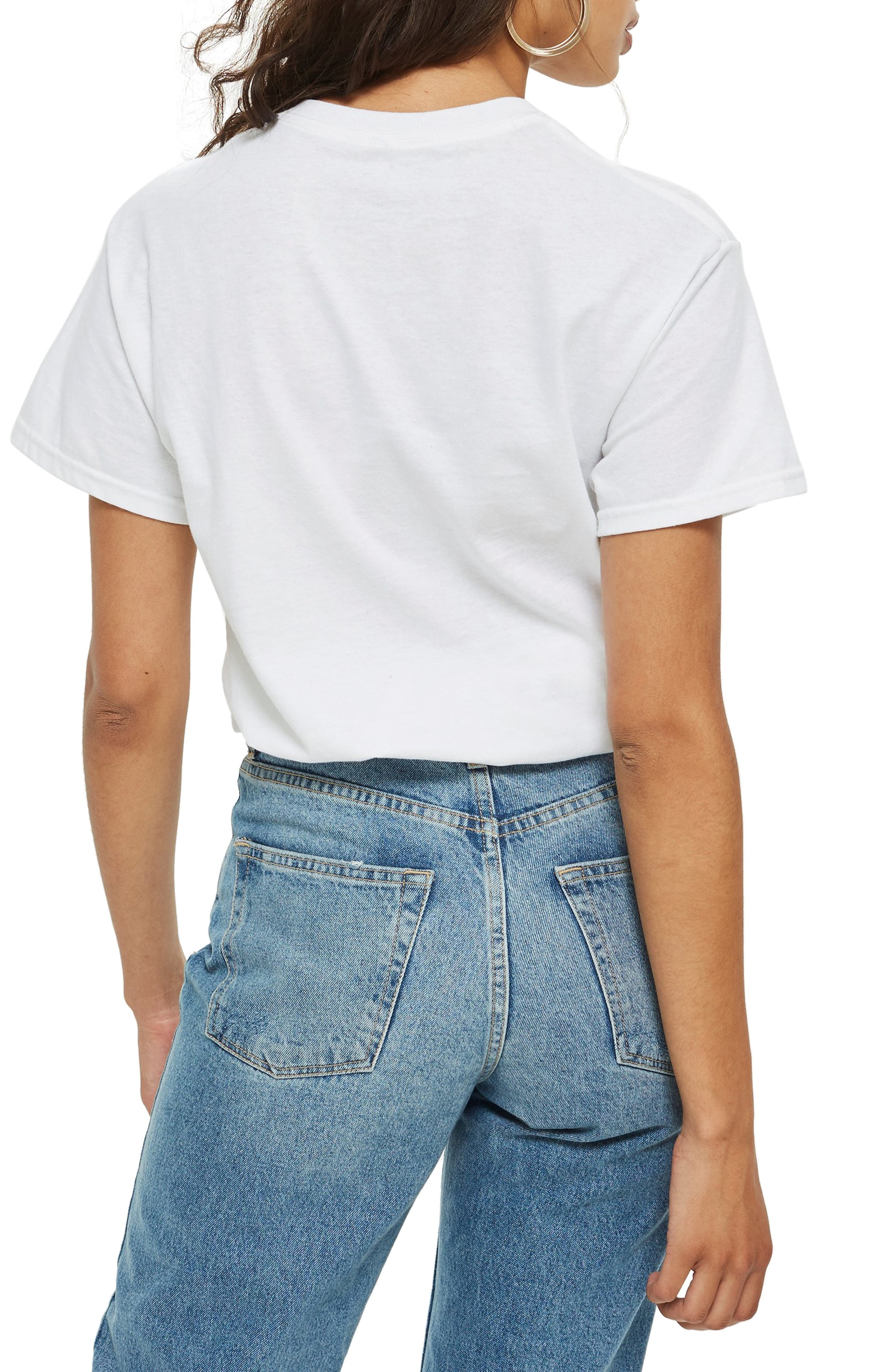 TOPSHOP,                             Britney Spears Graphic Tee,                             Alternate thumbnail 2, color,                             100