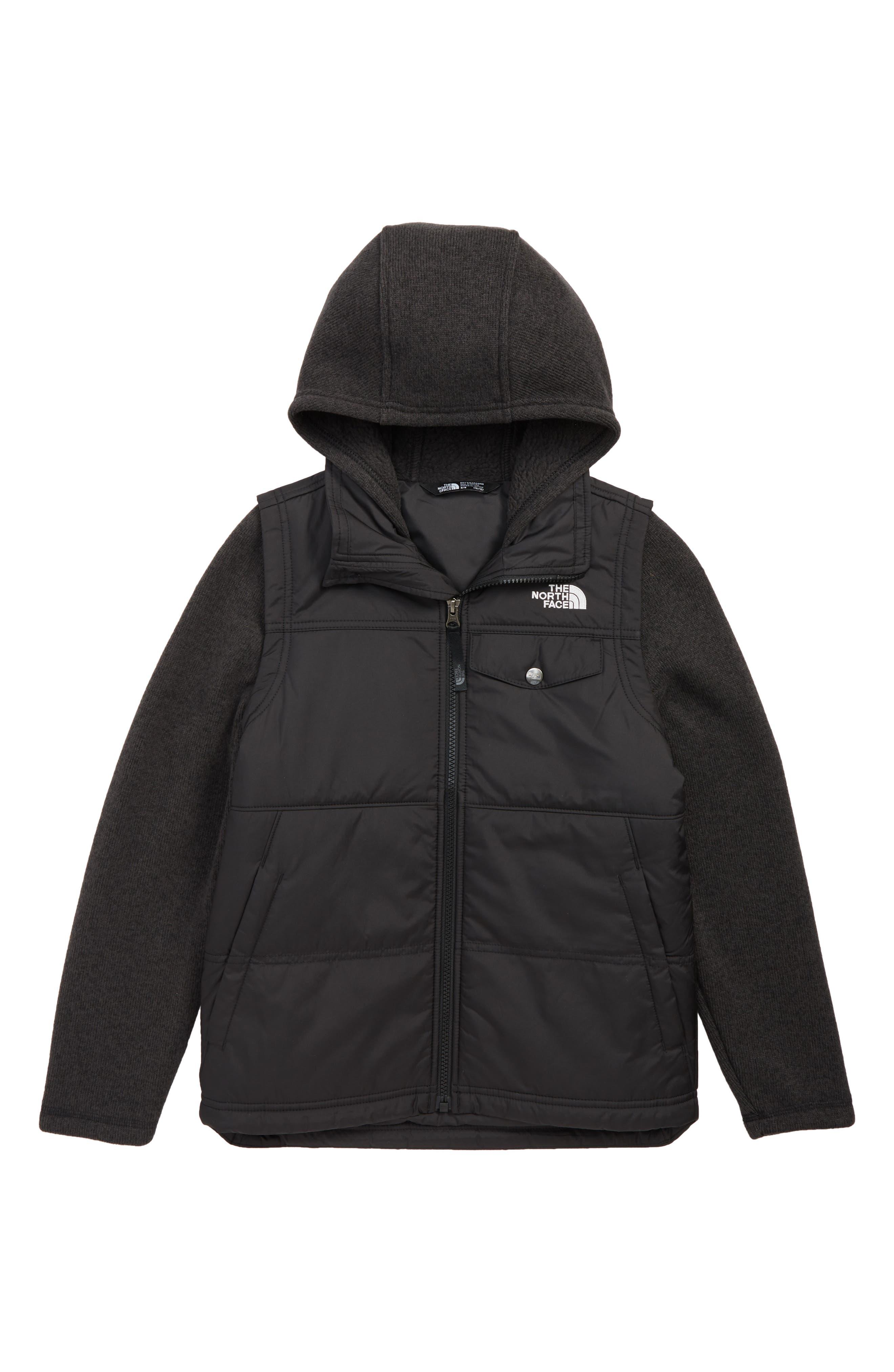 Gordon Lyons Varsity Vest Jacket,                             Main thumbnail 1, color,                             TNF BLACK