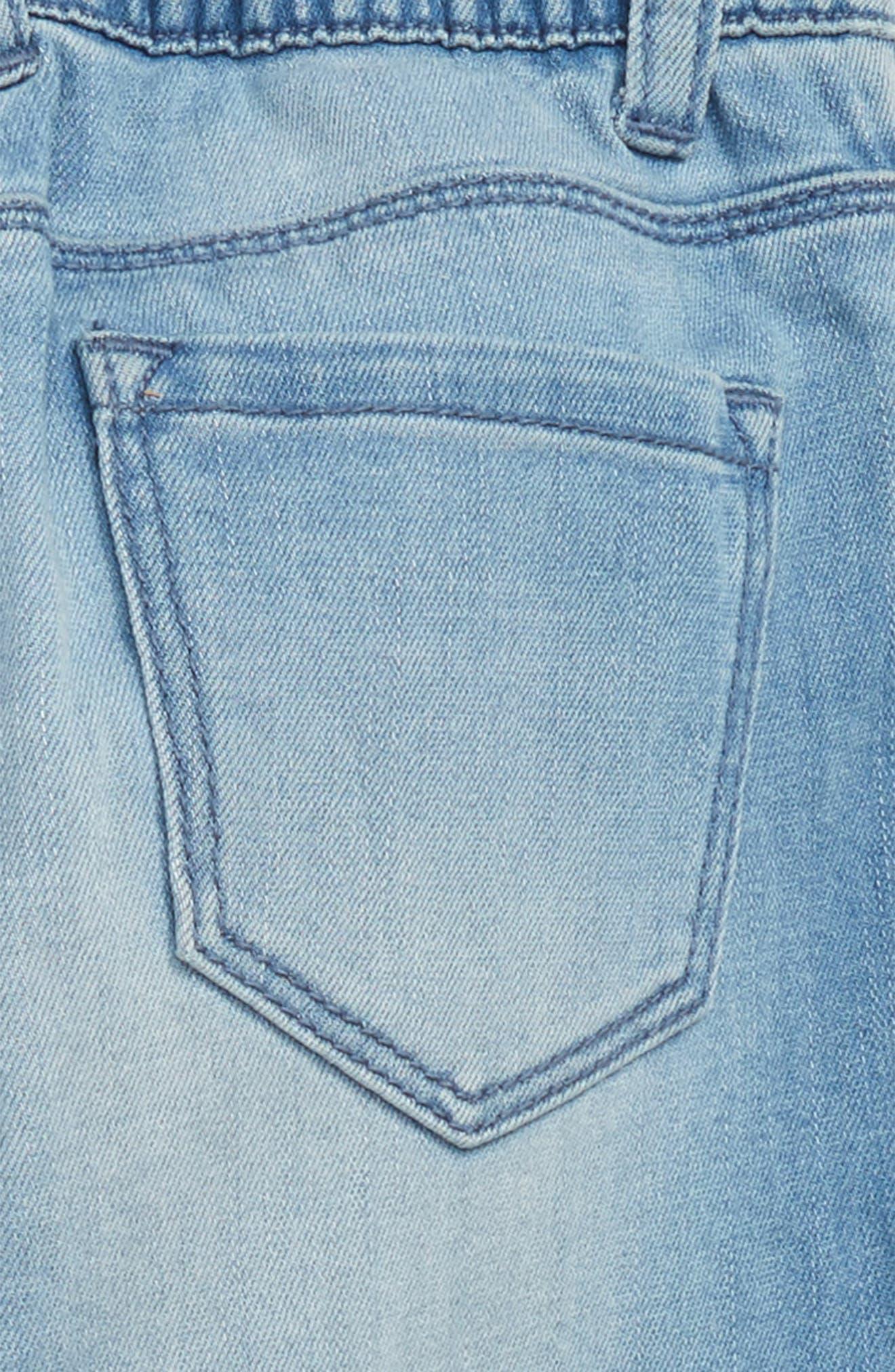 Ruffle Jeans,                             Alternate thumbnail 3, color,                             RUFFLE SKY WASH
