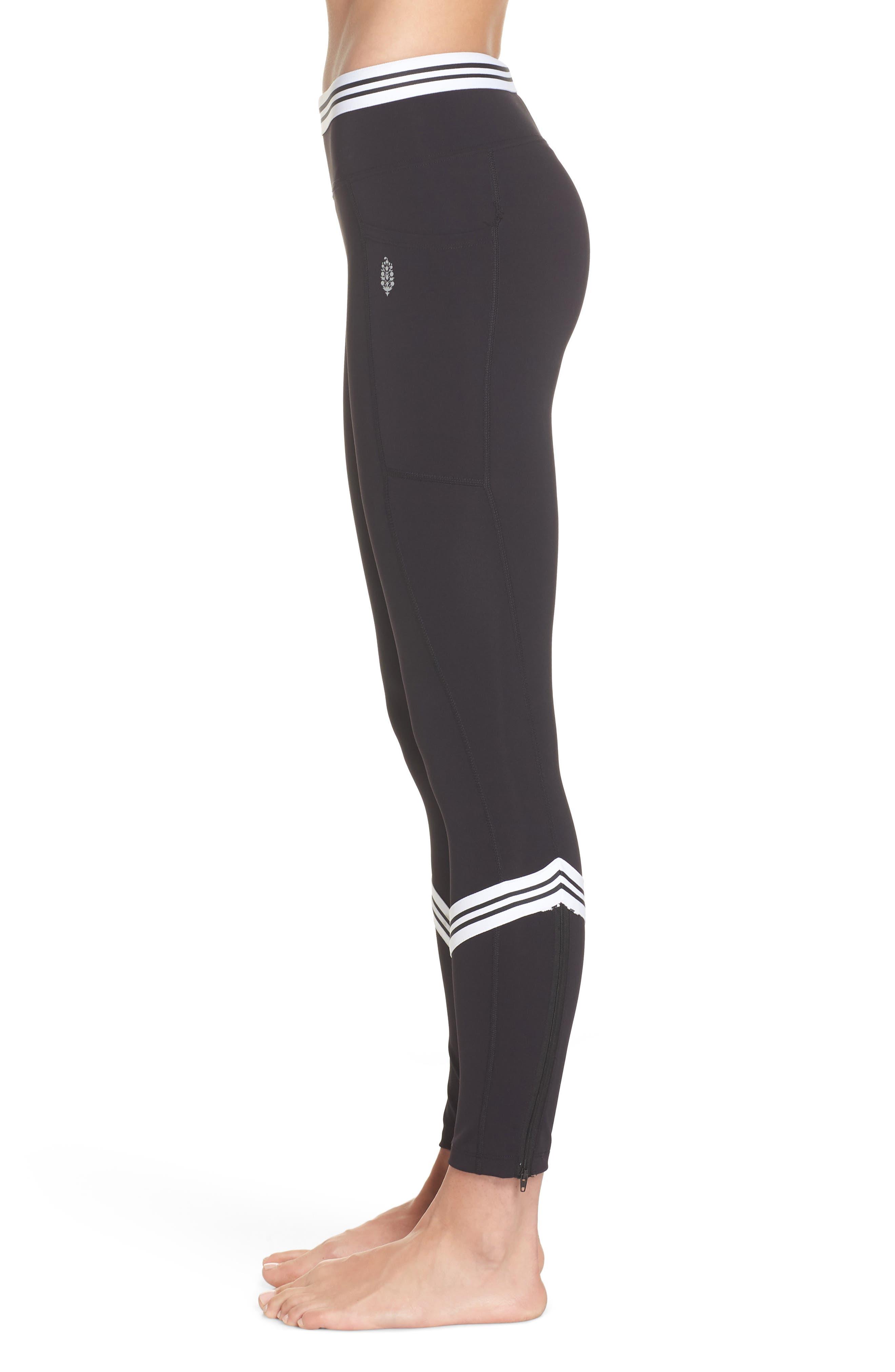 Zephyr Leggings,                             Alternate thumbnail 3, color,                             BLACK