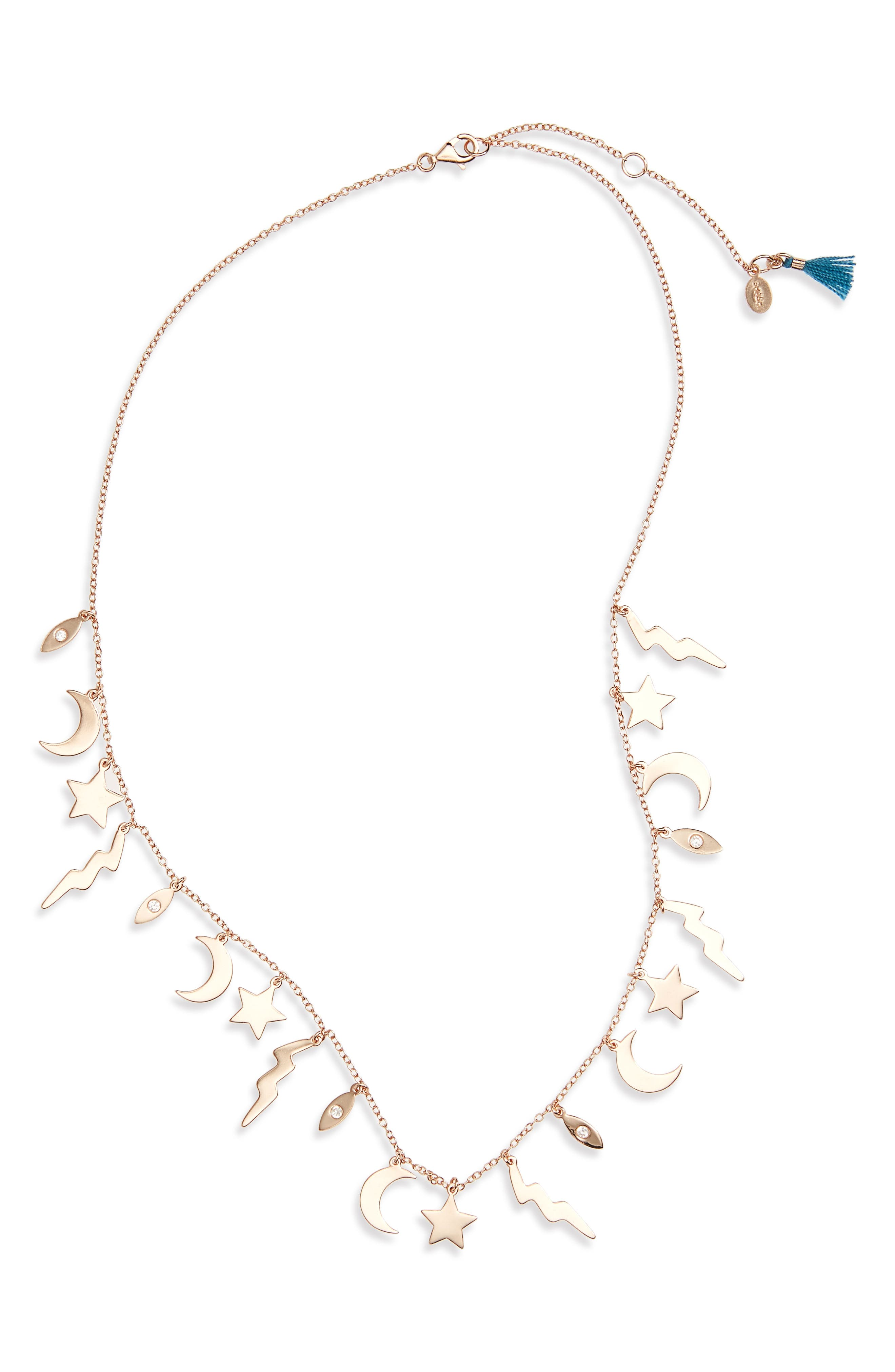 Multi Charm Necklace,                             Main thumbnail 2, color,