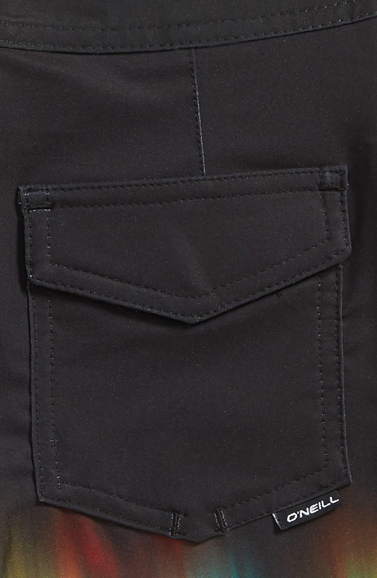 Hyperfreak Drippin Board Shorts,                             Alternate thumbnail 3, color,                             001