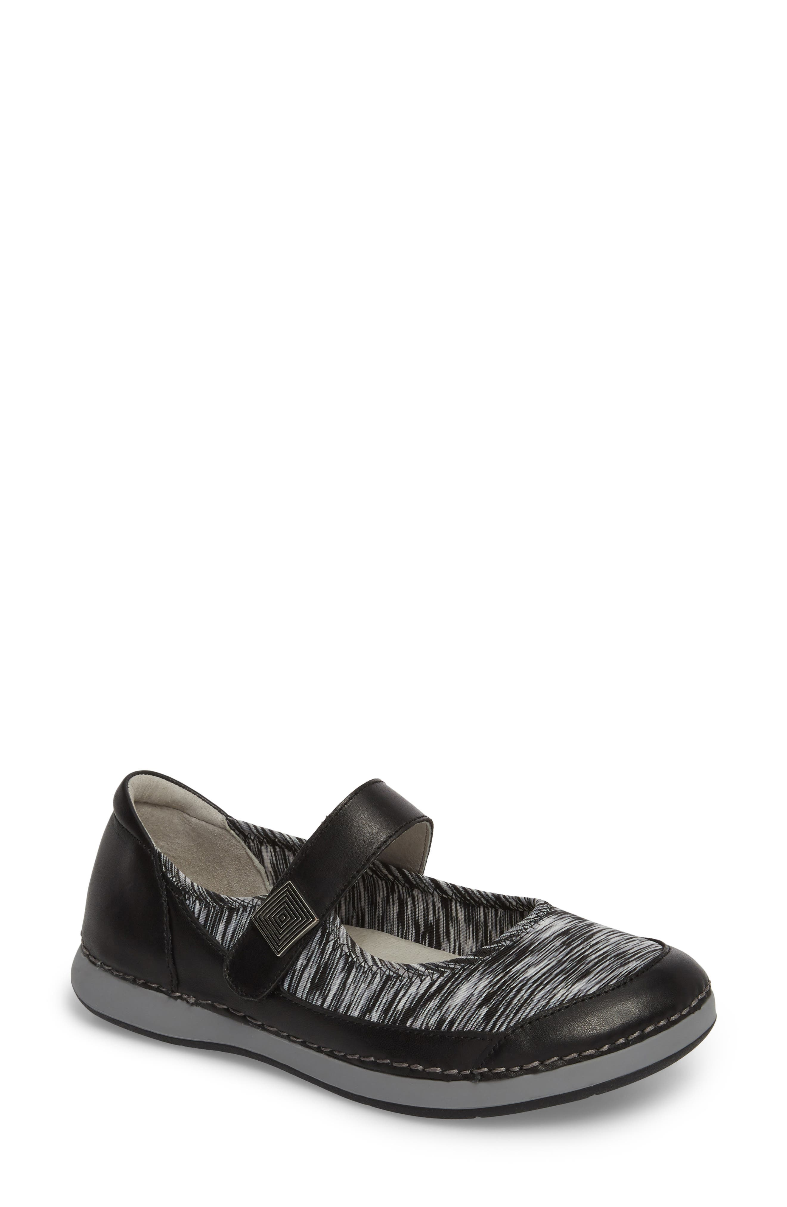 Gem Mary Jane Flat,                         Main,                         color, BLACK LEATHER