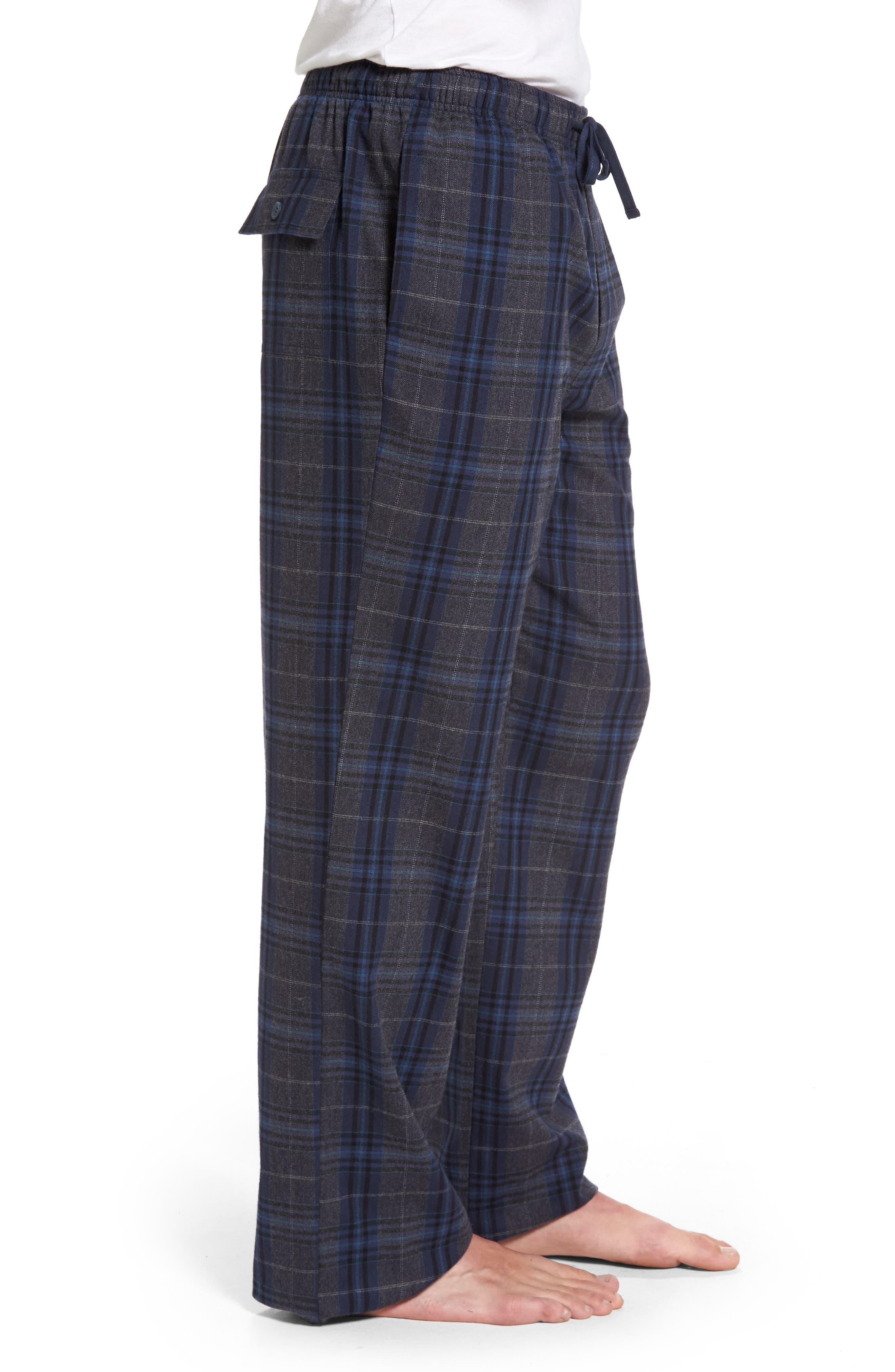 Bryson Plaid Flannel Lounge Pants,                             Alternate thumbnail 3, color,                             030
