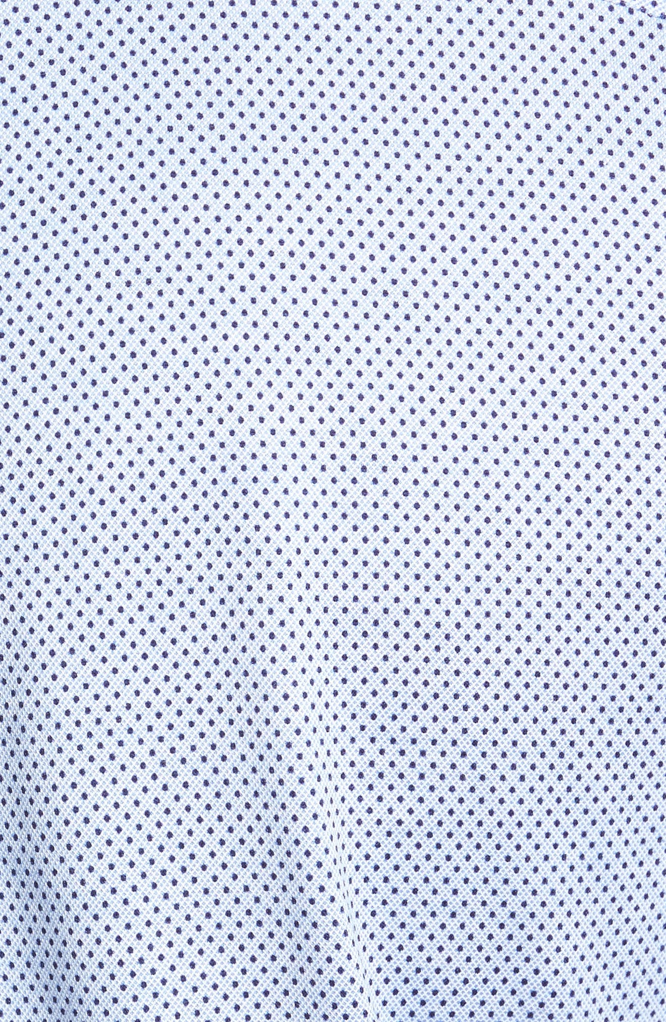 Mesh Dot Classic Fit Sport Shirt,                             Alternate thumbnail 5, color,                             453