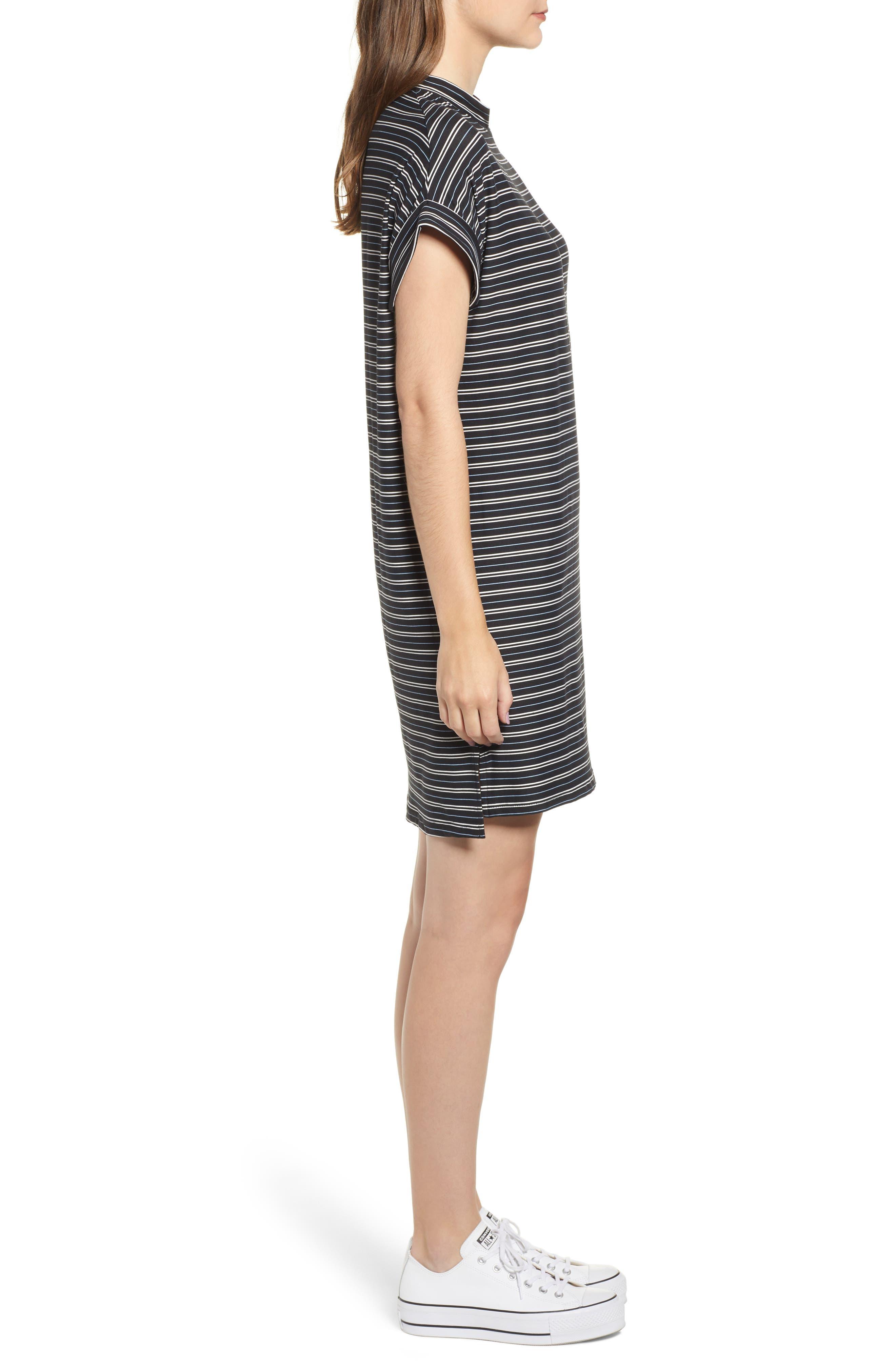 Stripe Sneaker Dress,                             Alternate thumbnail 3, color,                             001