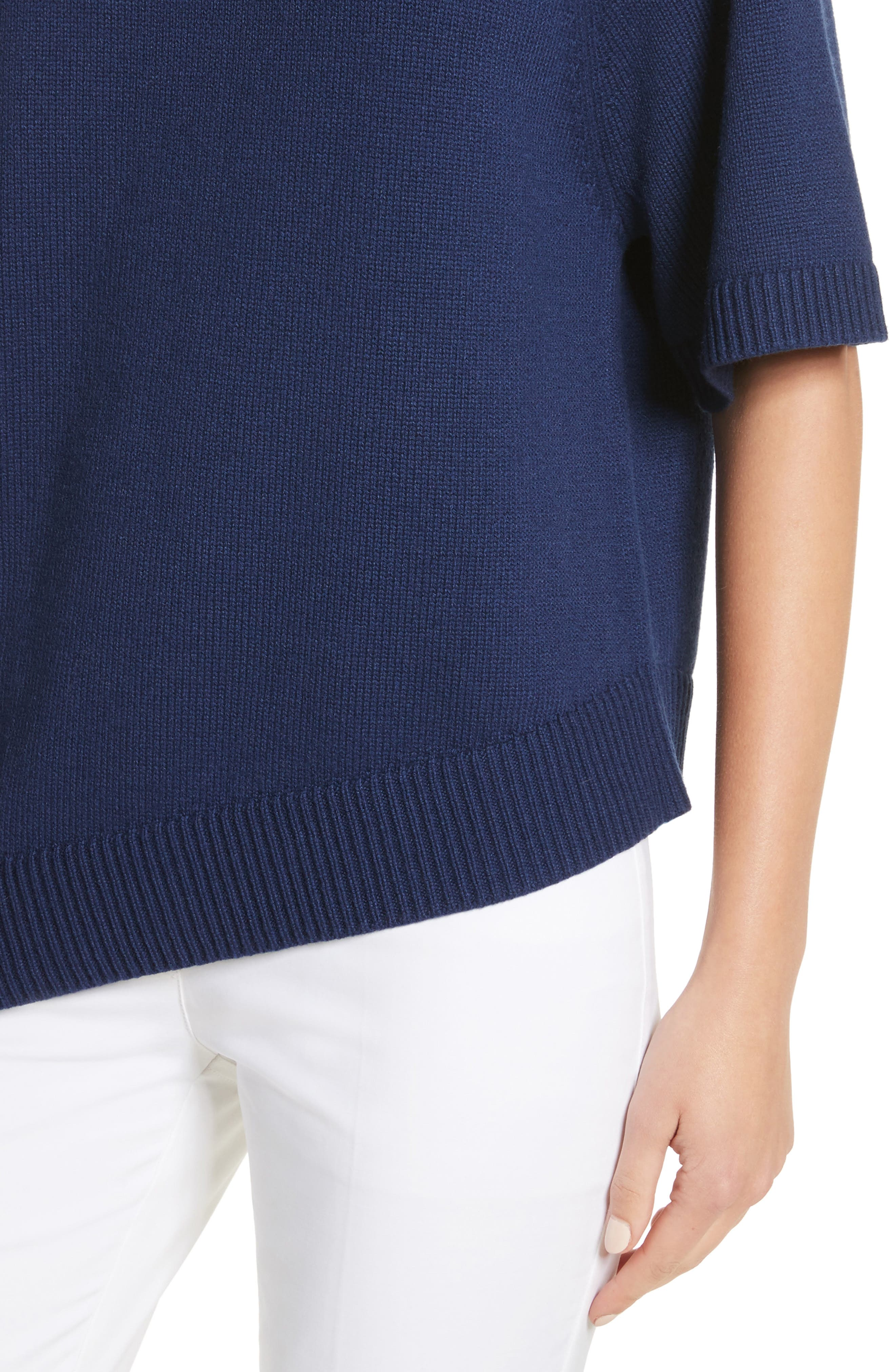 Asymmetrical Cashmere Pullover,                             Alternate thumbnail 4, color,                             489