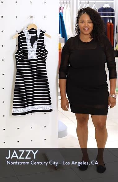 Mandarin Collar Shift Dress, sales video thumbnail