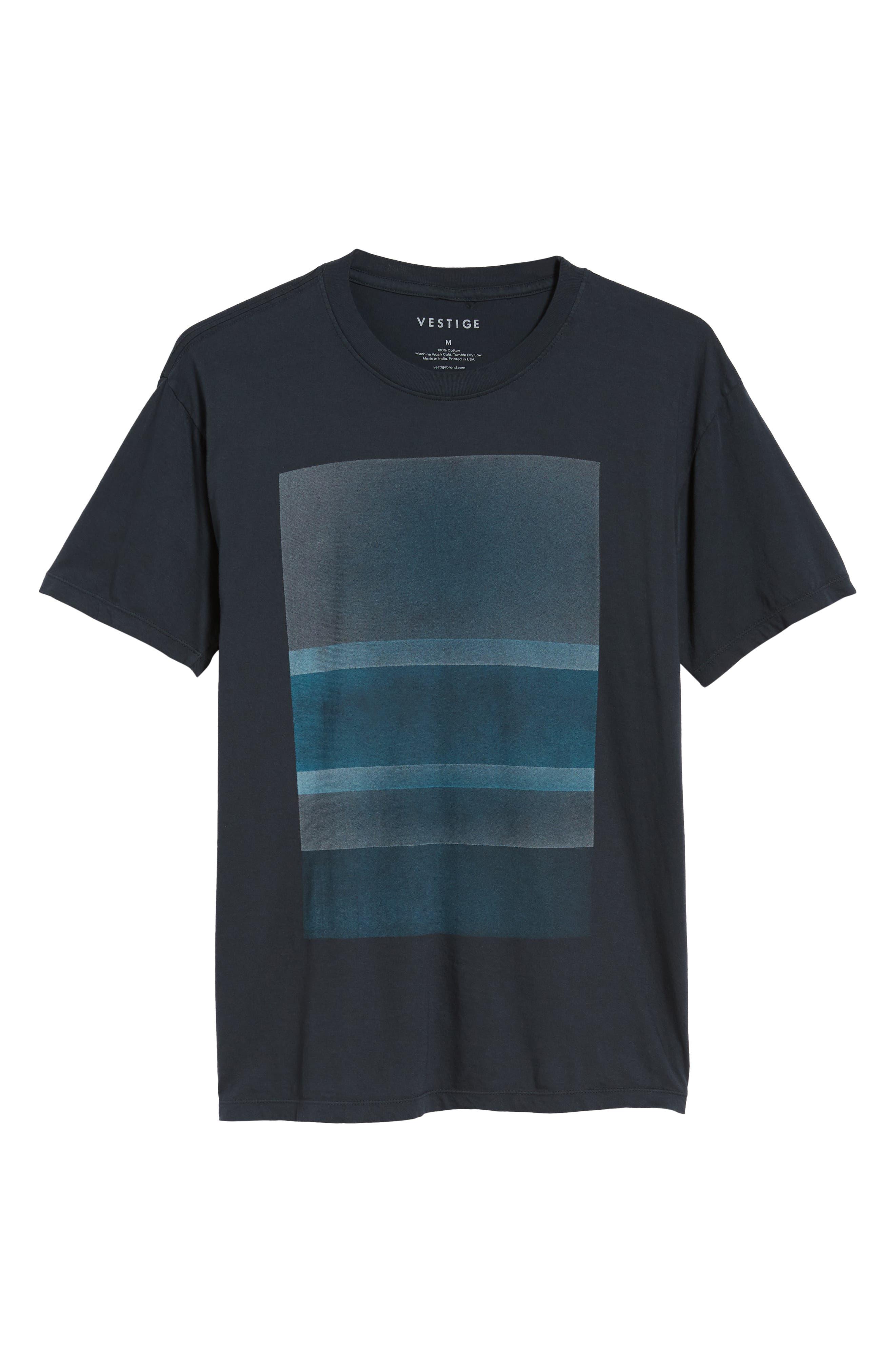 Motion Graphic T-Shirt,                             Alternate thumbnail 6, color,                             BLACK