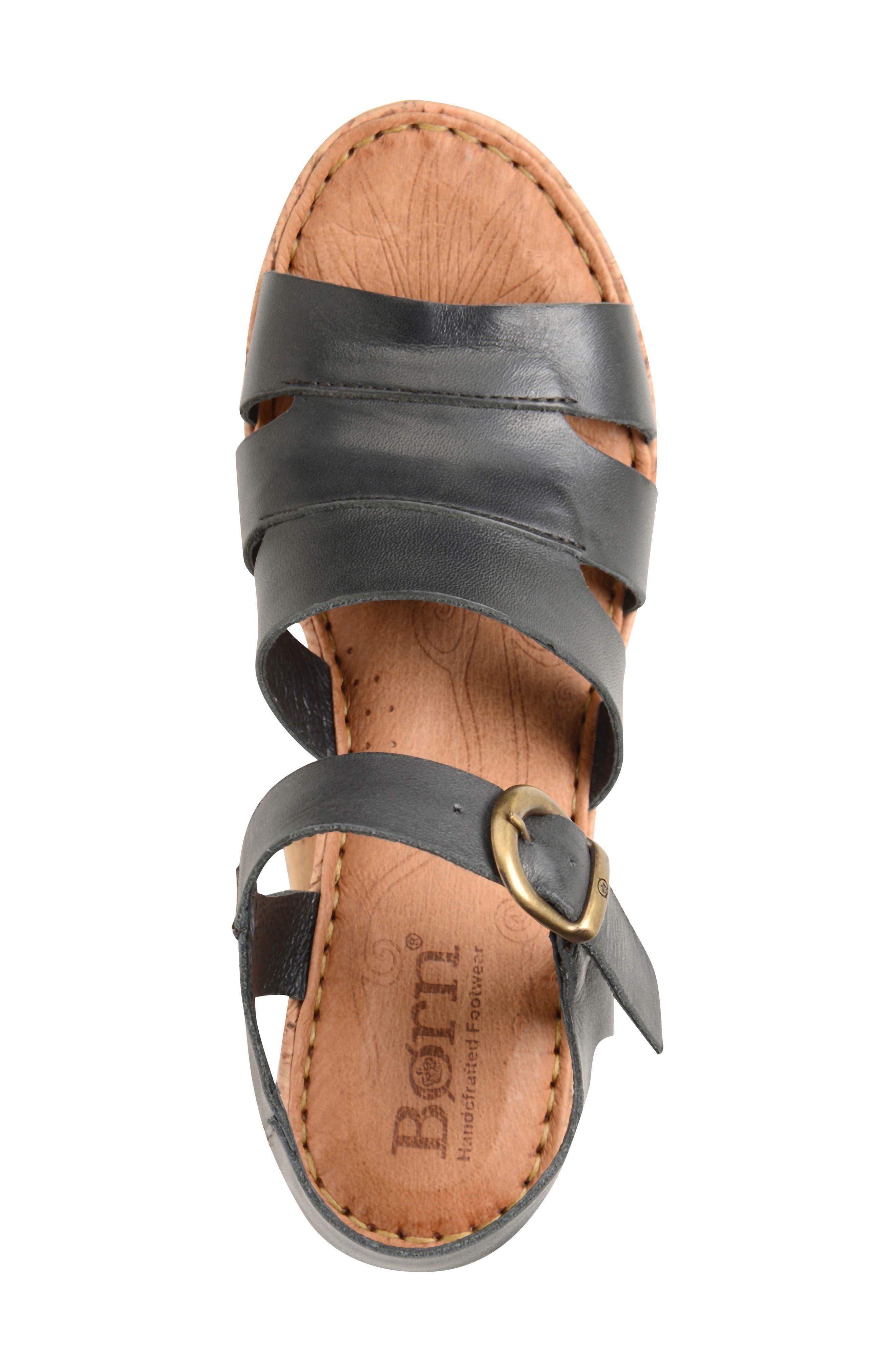Anori Platform Wedge Sandal,                             Alternate thumbnail 3, color,                             001