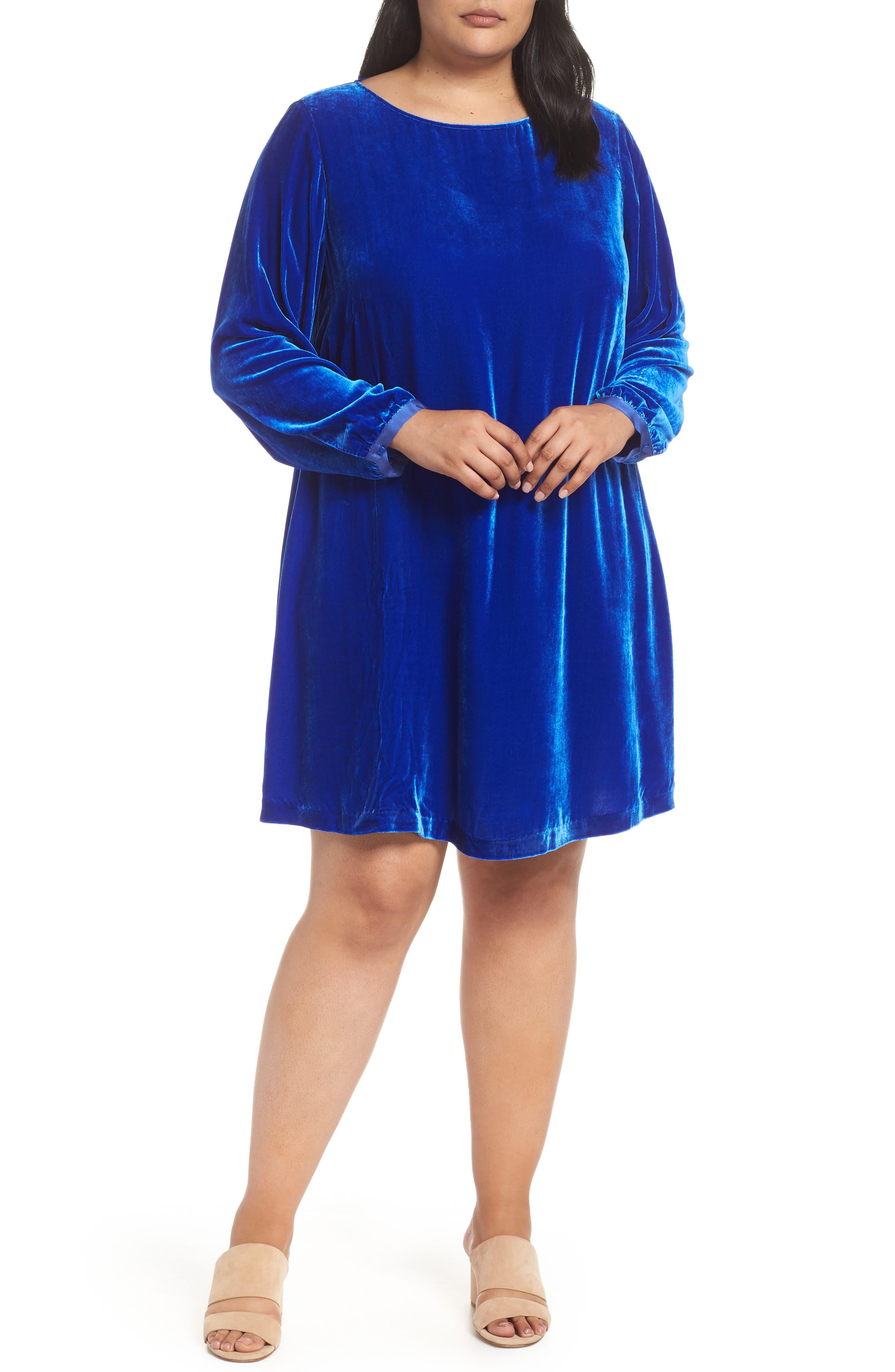 Plus Size Eileen Fisher Velvet Shift Dress