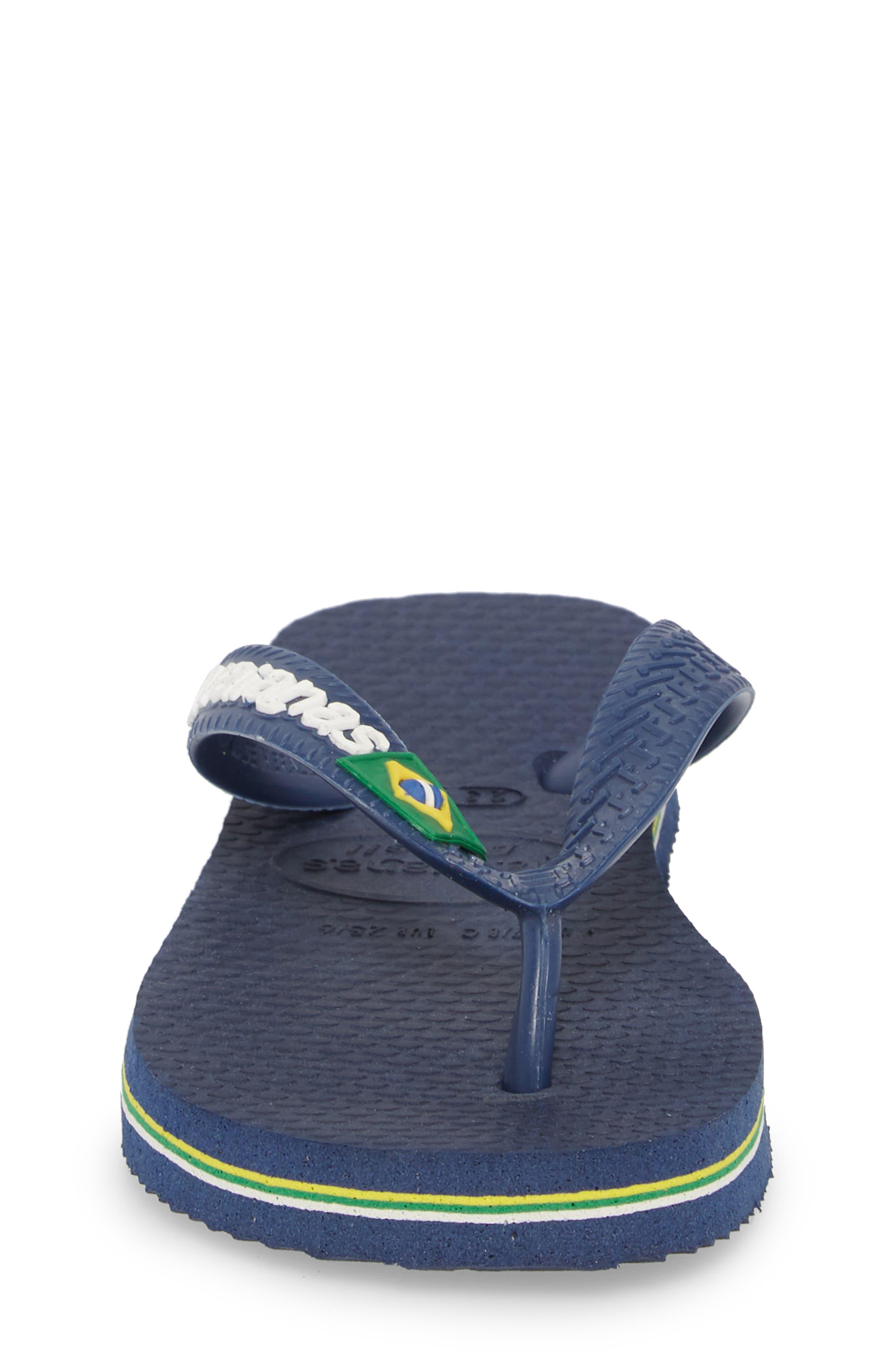 'Brazil Logo' Flip Flop,                             Alternate thumbnail 5, color,                             Navy Blue