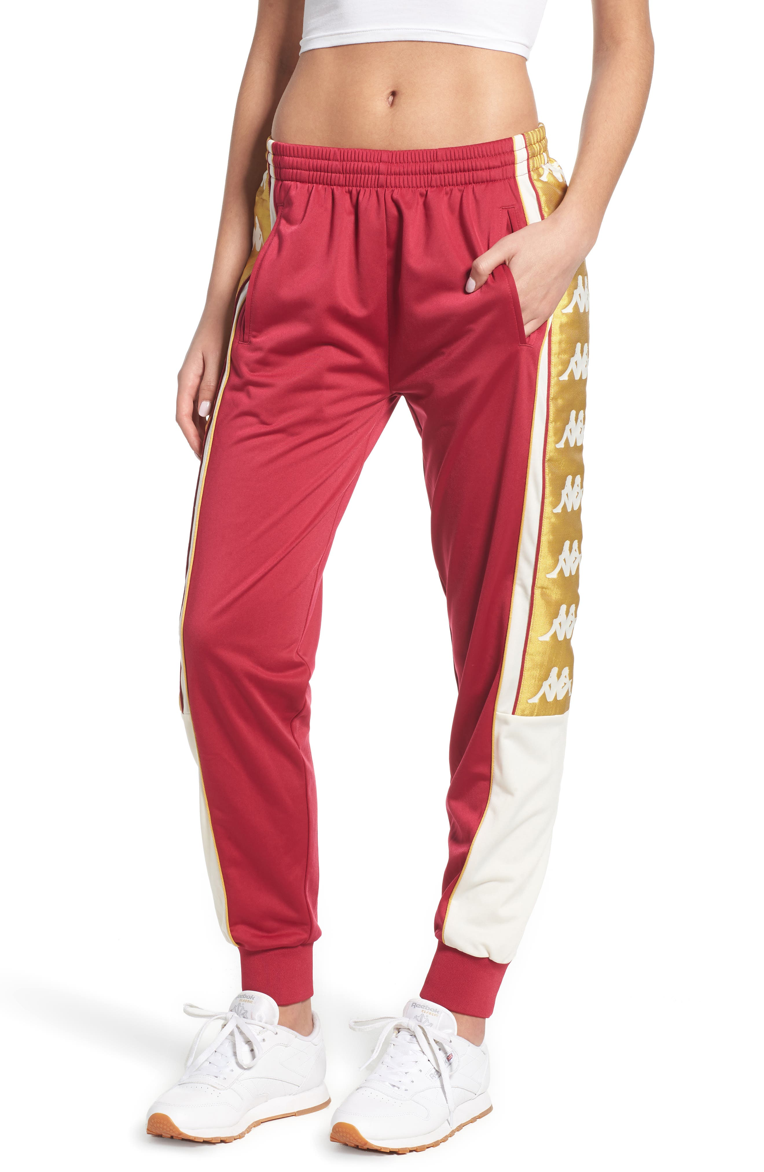 Track Pants,                         Main,                         color, REDCERISE-WHITE-GOLD